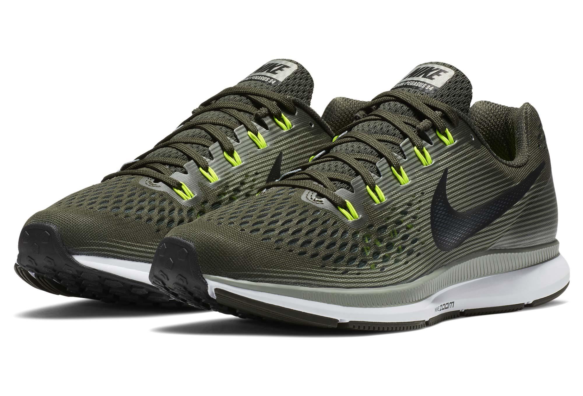 Chaussures Pegasus 34 Homme Running Vert Kaki Air De Zoom Nike RL5jA4