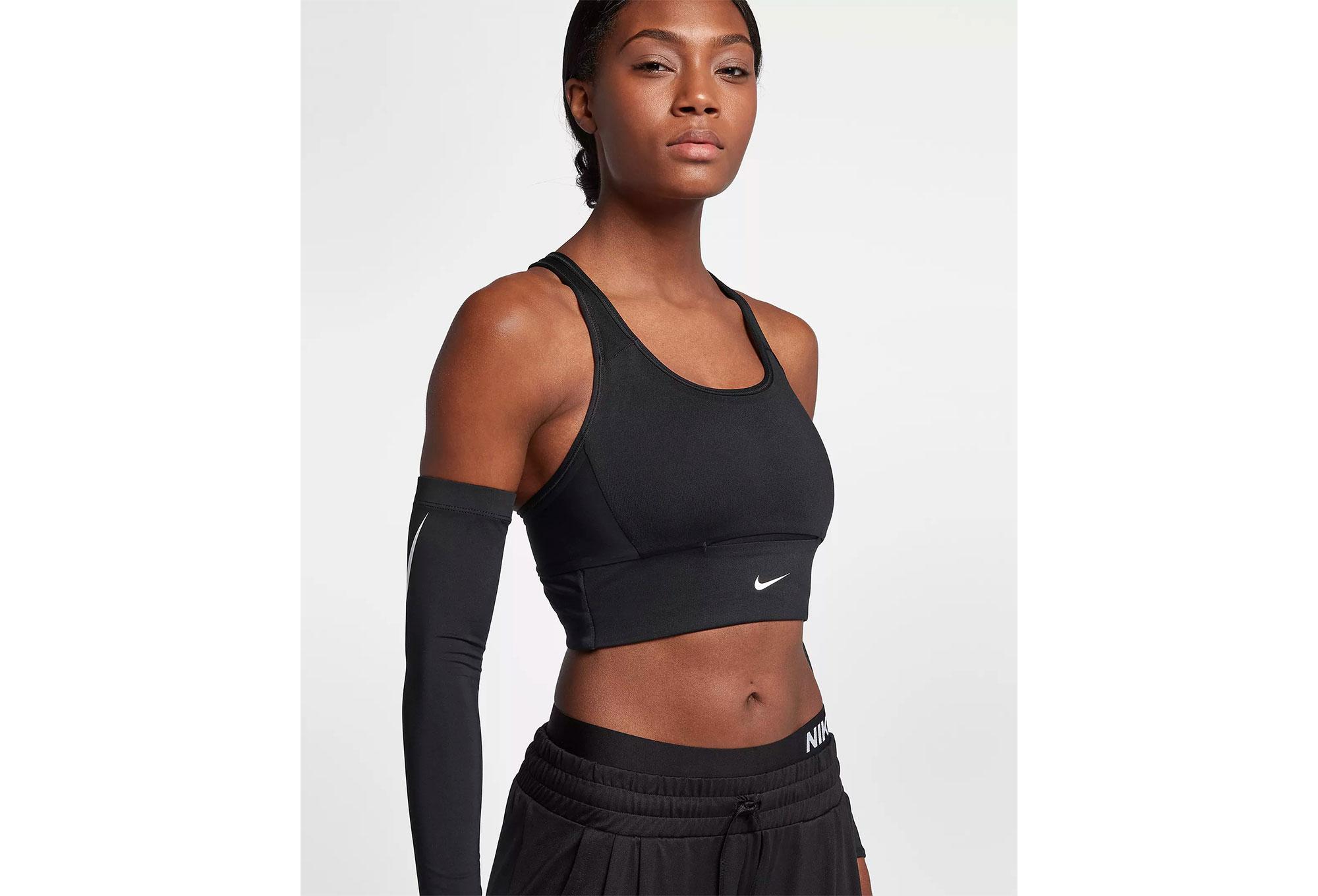 6a4ac0aff6 Nike Swoosh Pocket Sports Bra Black
