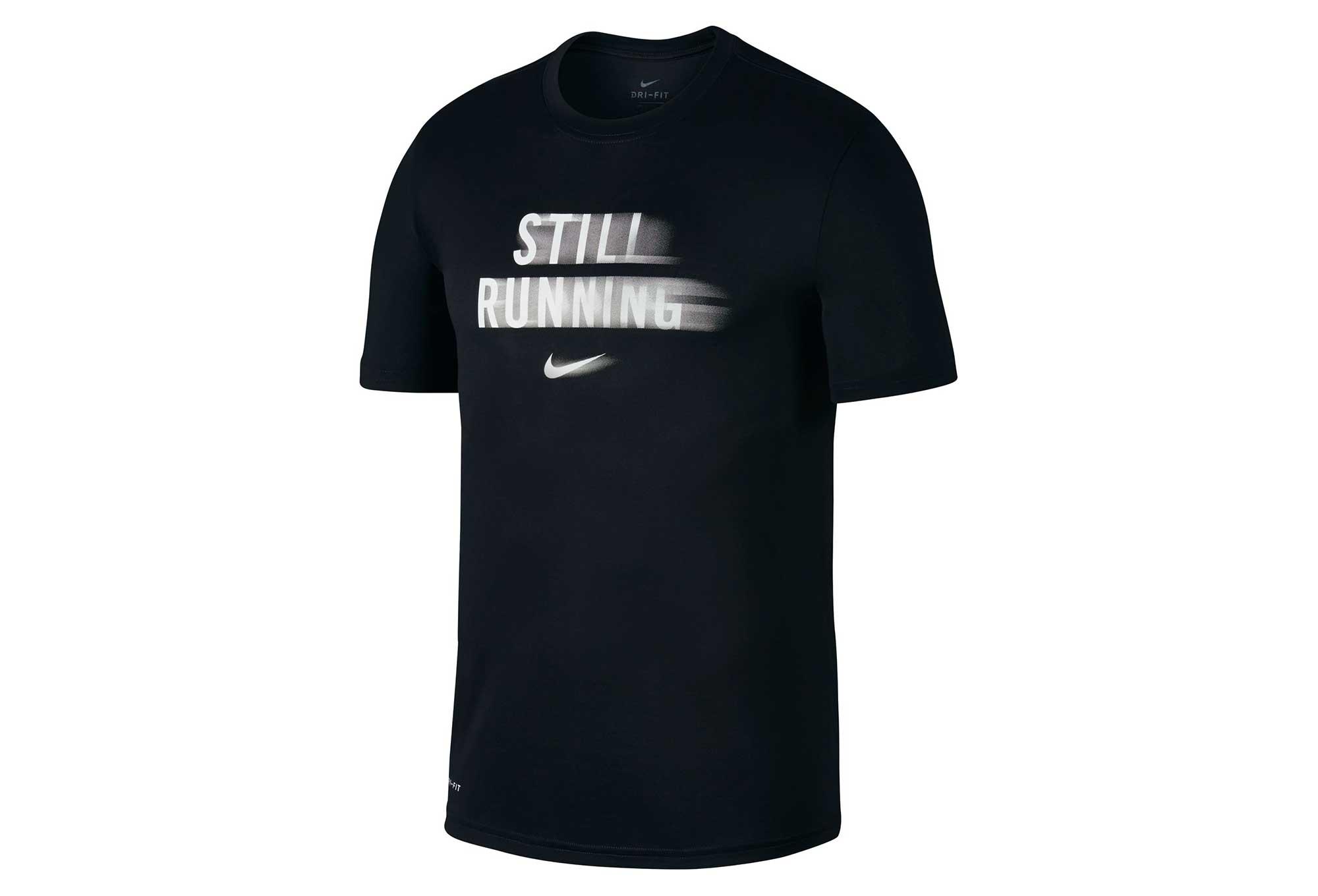 Negra Camiseta De Nike Manga Running Still Corta LGVSUzMqp