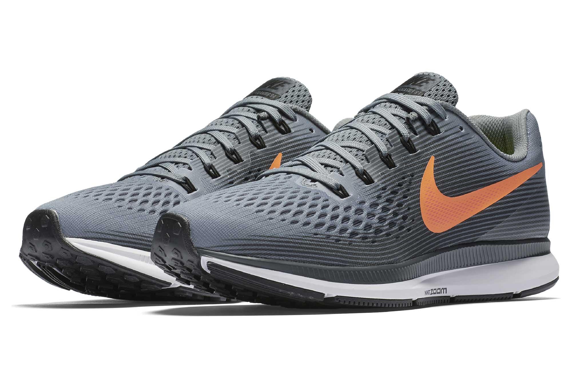 cozy fresh first look sneakers for cheap NIKE AIR ZOOM PEGASUS 34 Shoes Grey Orange Men