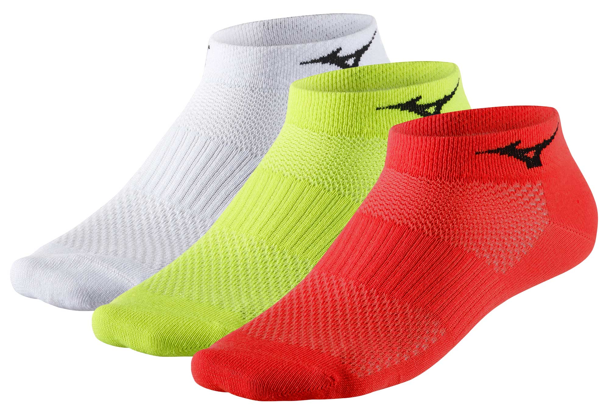 3 Pairs Mizuno Training Mid Socks