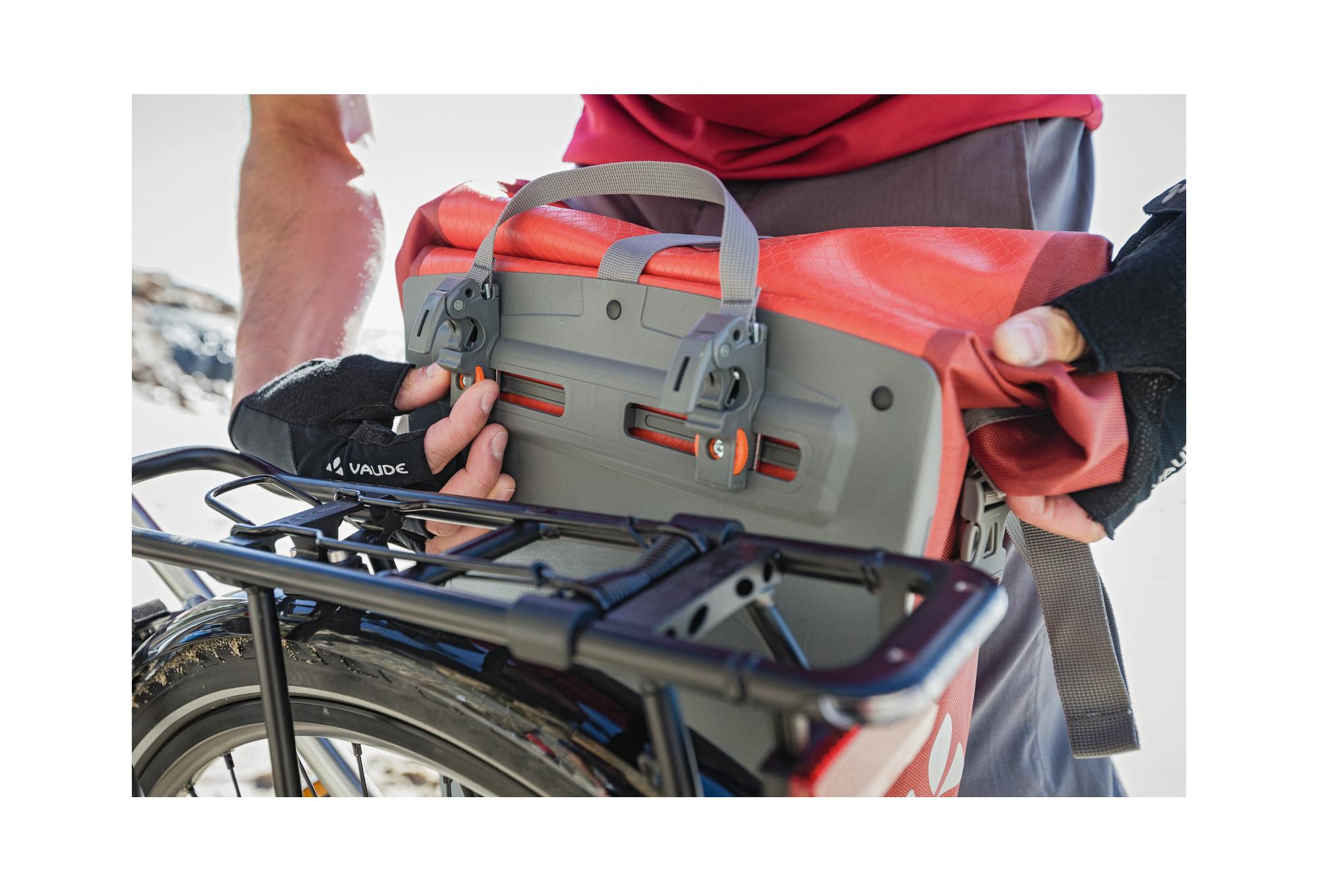 Vaude triples bolso bicicleta Karakorum bolsa portaequipaje bolso rueda trasera QMR 2