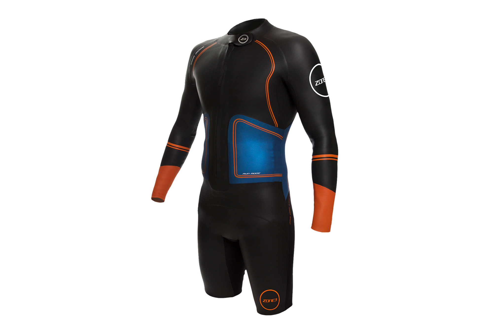 Zone3 SwimRun Evolution Wetsuit Black Blue Orange  418cfed354f7