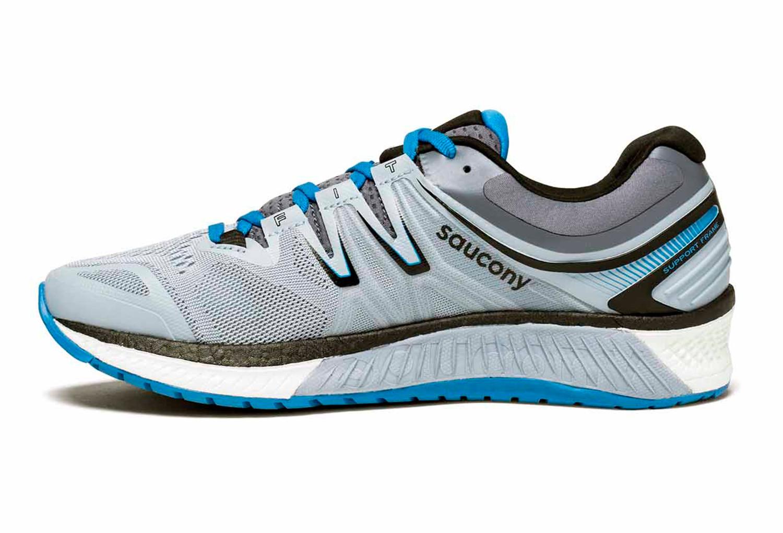 Saucony Chaussures  Hurricane ISO4 gris/bleu/rouge - Chaussures Chaussures-de-running Homme