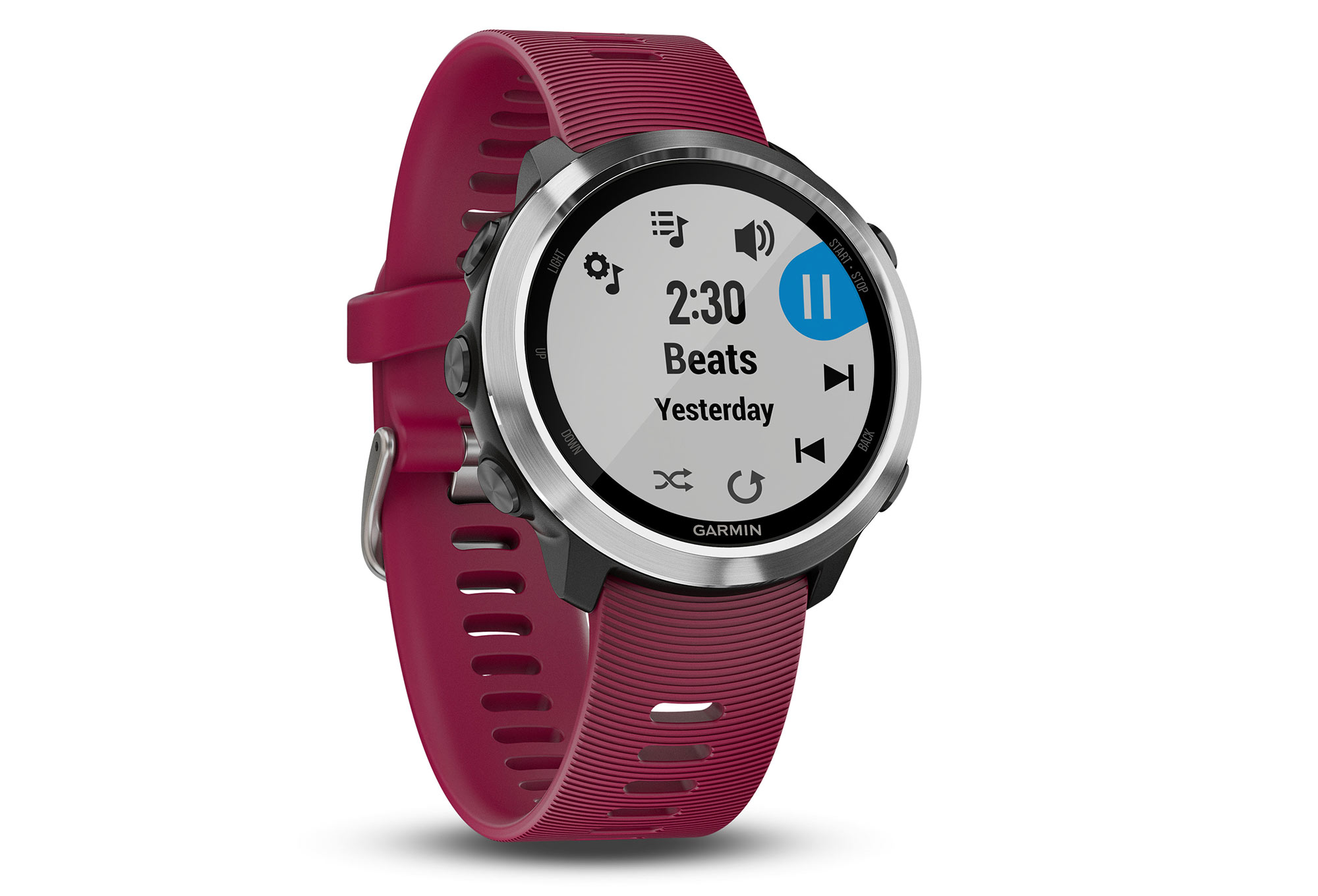 montre gps garmin forerunner 645 music cerise. Black Bedroom Furniture Sets. Home Design Ideas