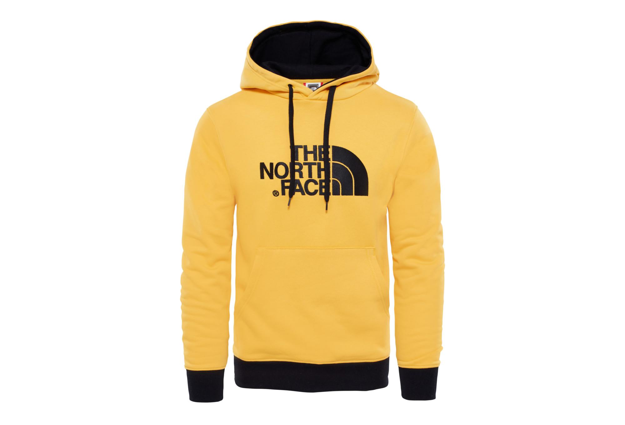 USA billig verkaufen 100% Zufriedenheitsgarantie attraktiver Stil Der North Face Drew Peak Hoodie Gelb Schwarz