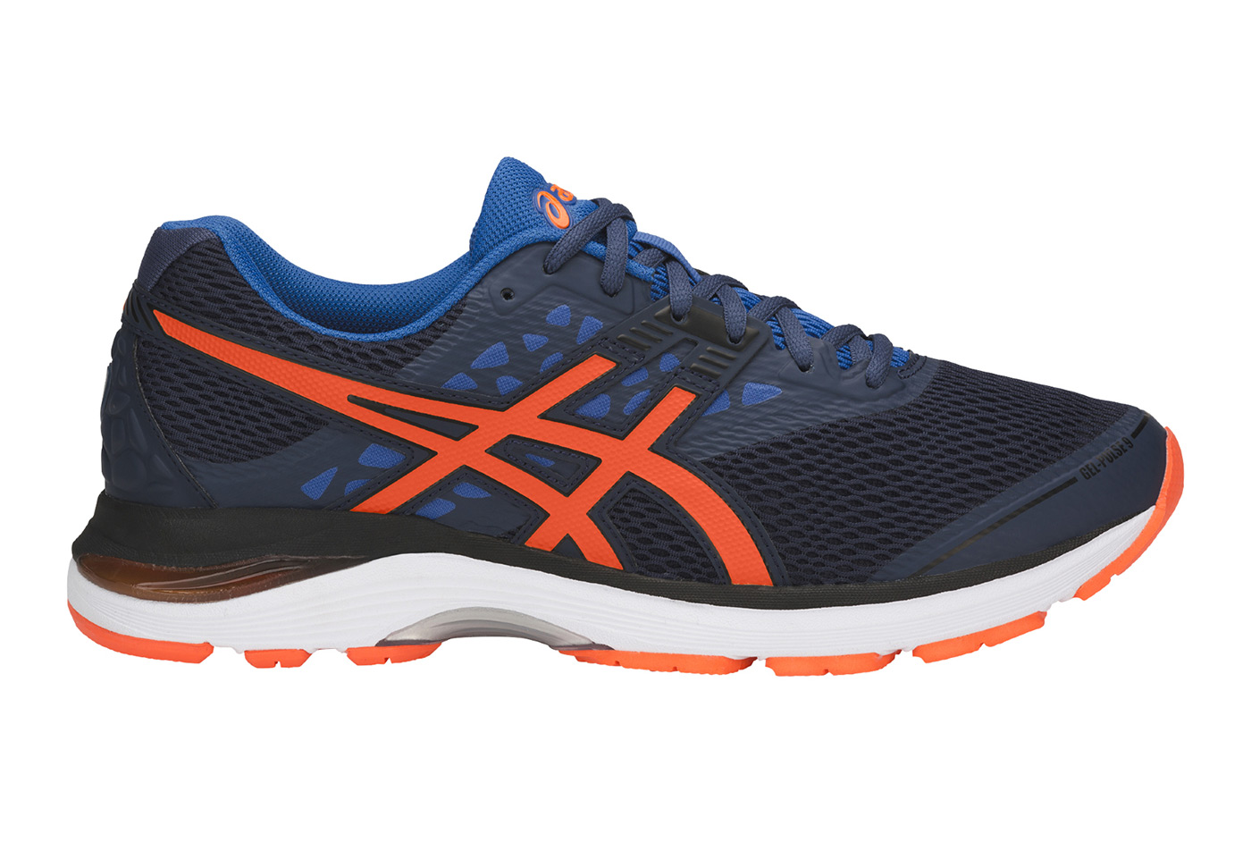 asics bleu orange gel
