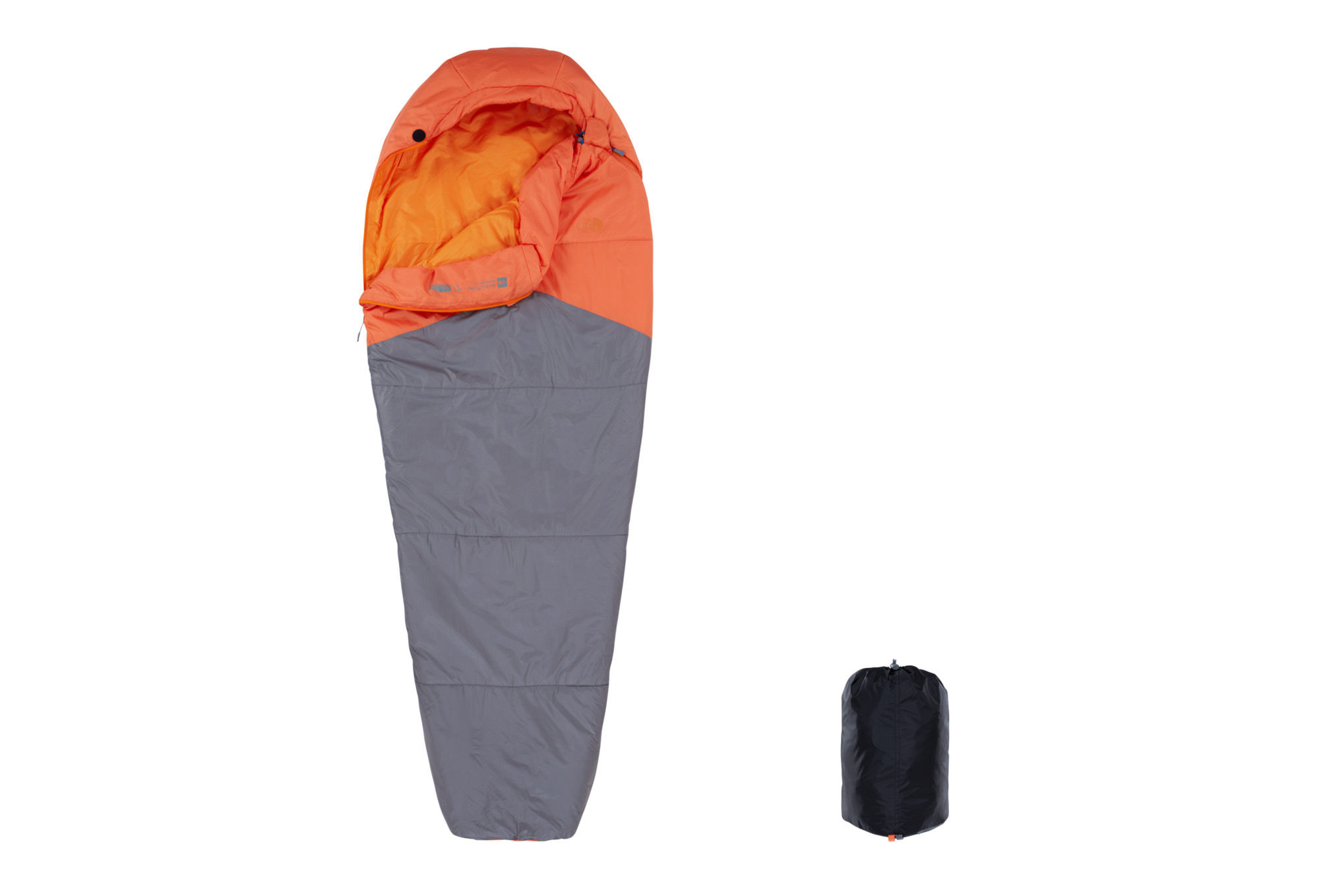 ce1dc734f7 Sac de Couchage The North Face Aleutian 40/4 Long Zip Gauche Orange Gris