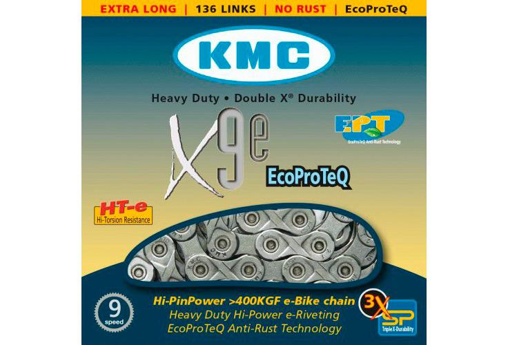 136 Liens argent KMC X9e-Sport Support Chaîne
