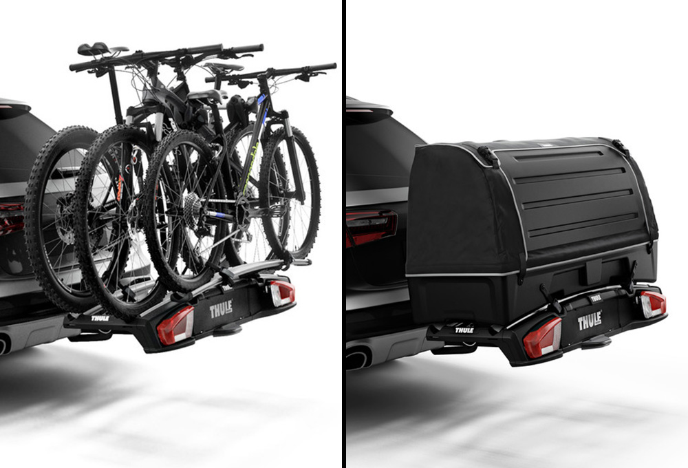 thule velospace xt 2 hitch mounted bike carrier 2 bikes. Black Bedroom Furniture Sets. Home Design Ideas