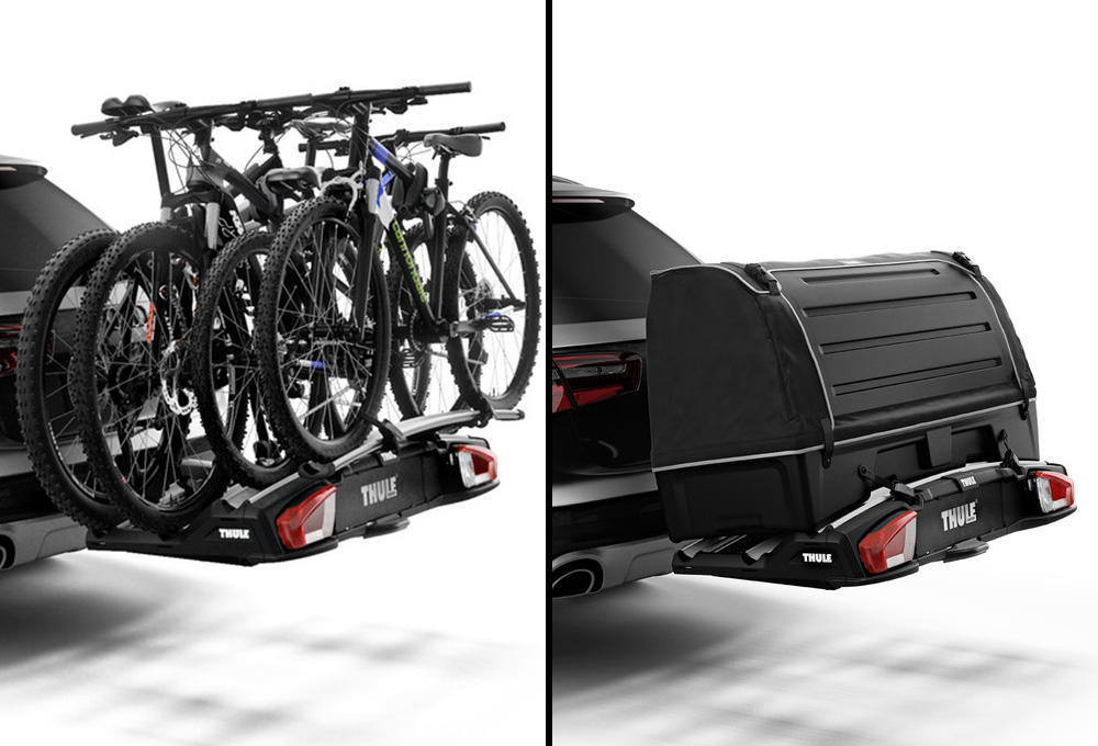 thule velospace xt 3 hitch mounted fahrradtr ger 3. Black Bedroom Furniture Sets. Home Design Ideas