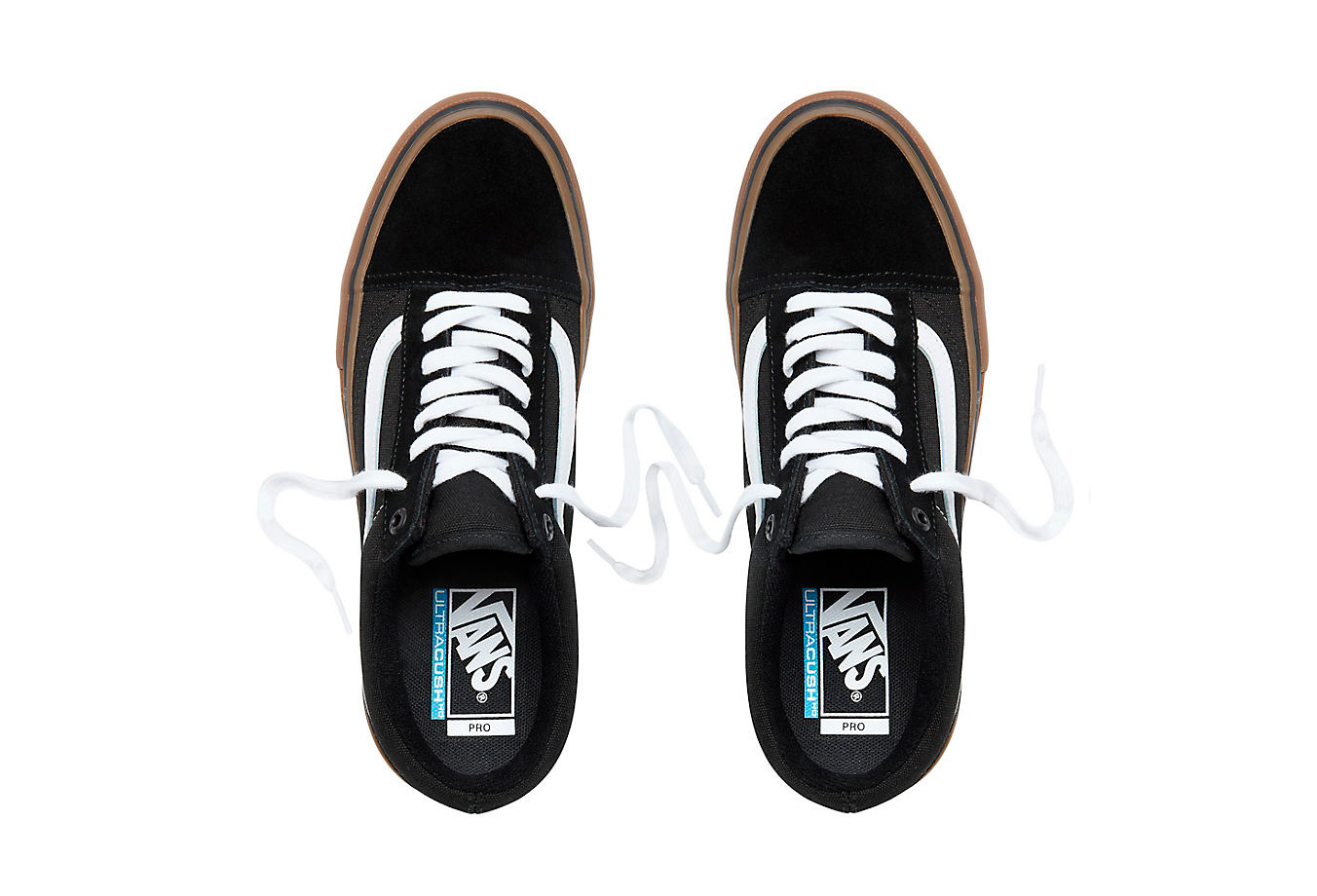 Vans Old Skool Pro Shoes Black White Gum