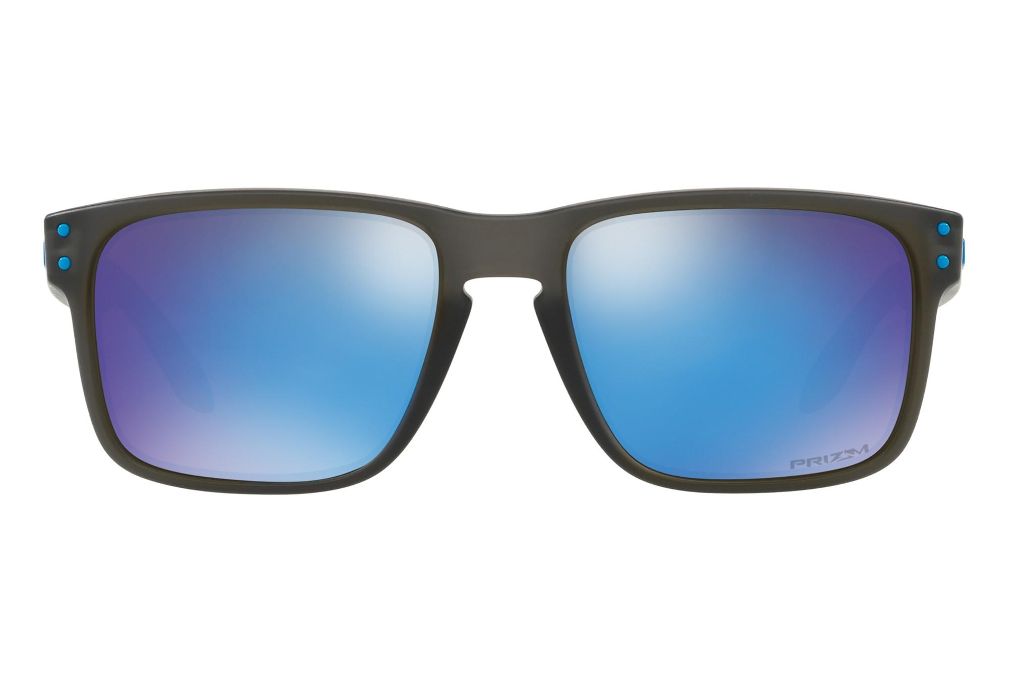 67774bcfe71eb7 Oakley Holbrook Sunglasses Black Blue - Prizm Sapphire OO9102-F255 ...
