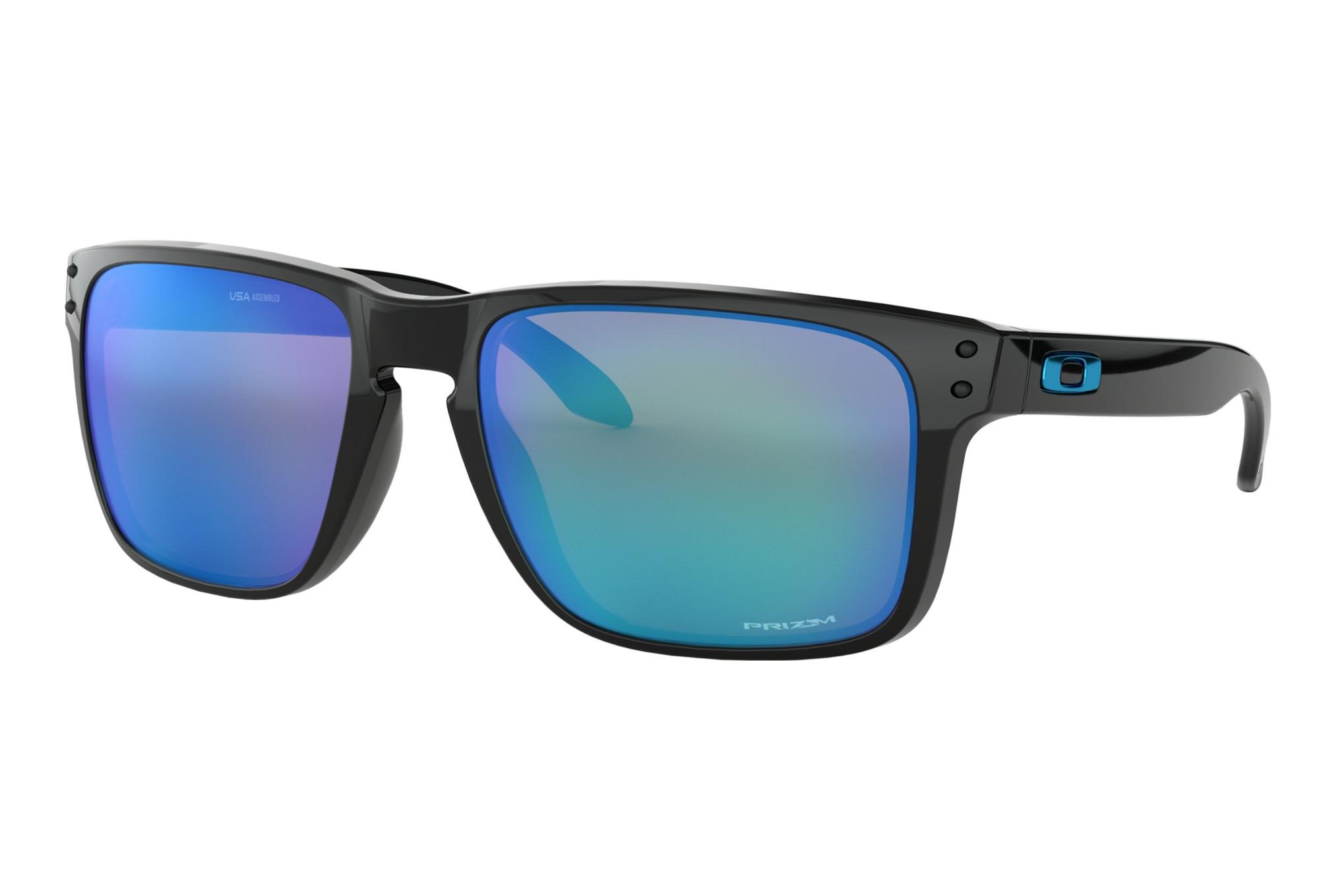 détaillant en ligne très convoité gamme de plus gros rabais Lunettes Oakley Holbrook XL Noir - Prizm Sapphire OO9417-0359