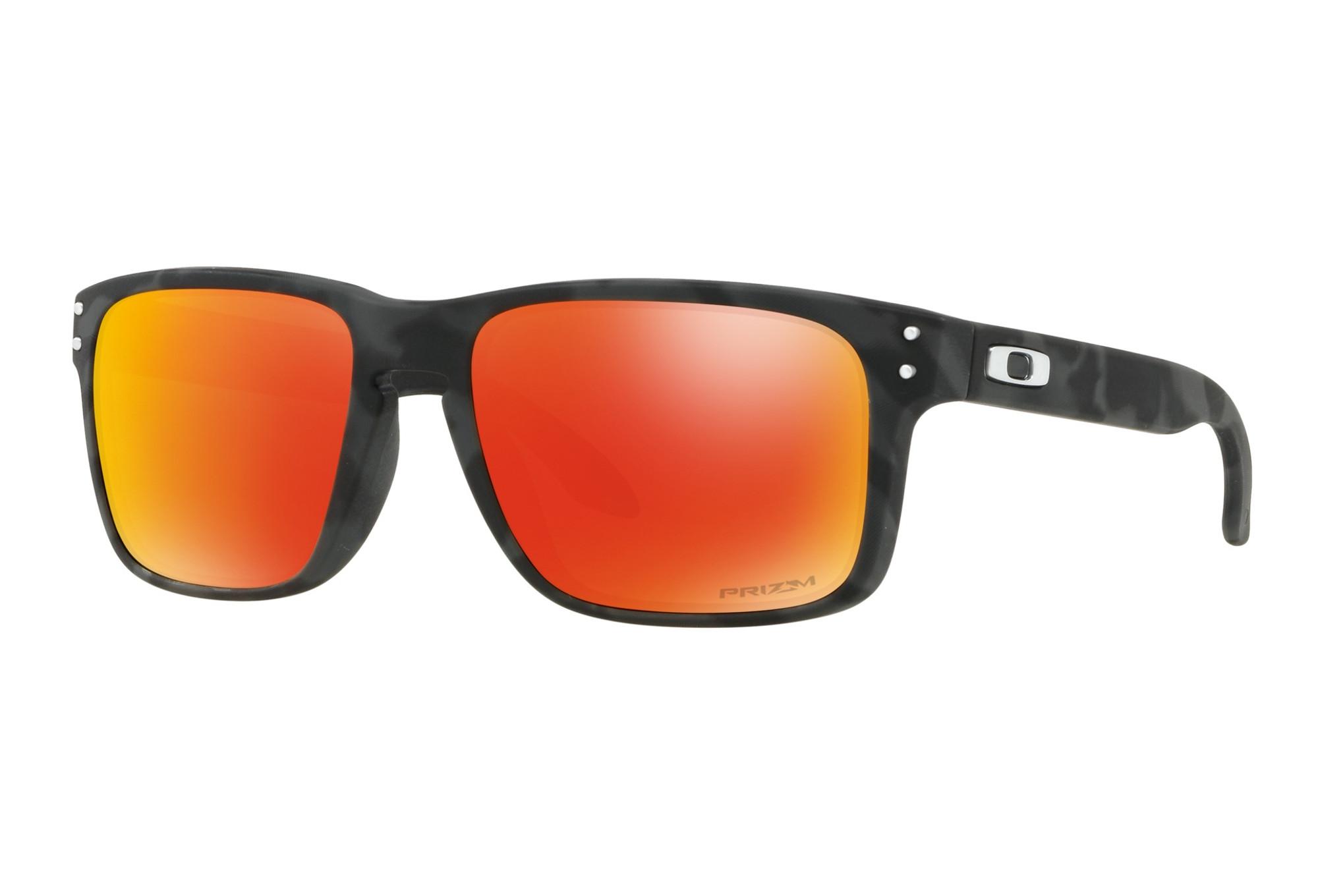 eac49034ba8 Oakley Holbrook Sunglasses Black Camo - Prizm Ruby OO9102-E955 ...