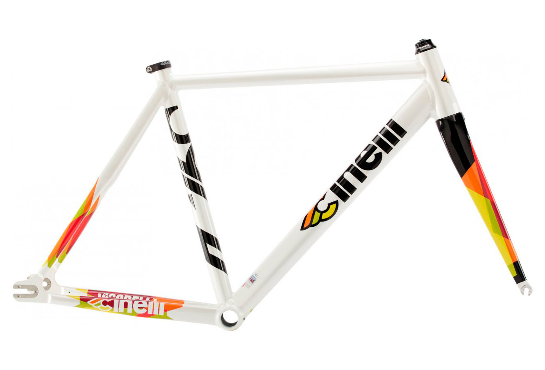 Rahmen Kit / Gabel Rennrad /Bahnrad Cinelli Vigorelli Alu Weiß 2018 ...