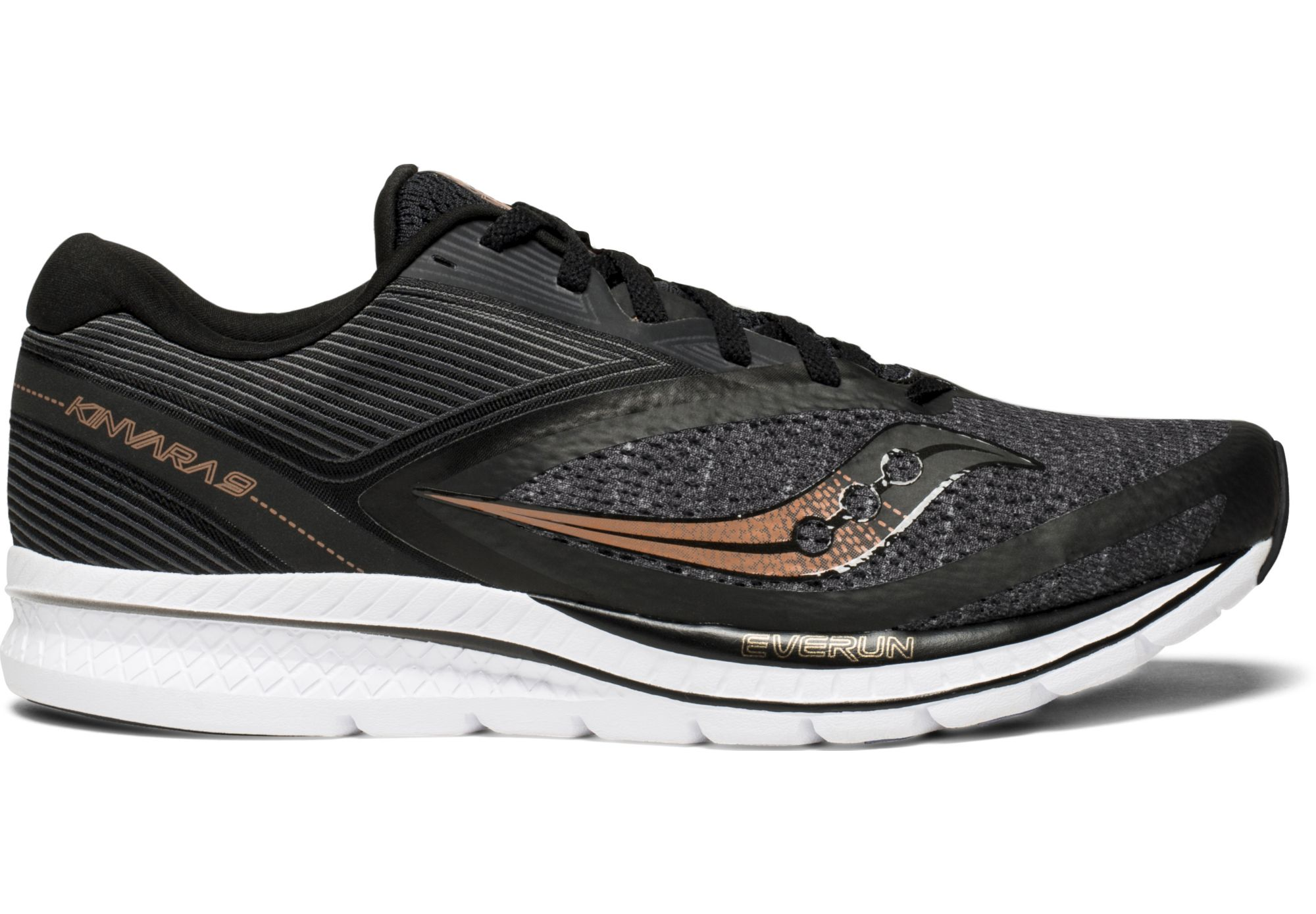 968474f4 SAUCONY Kinvara 9 Running Shoes Black/Grey
