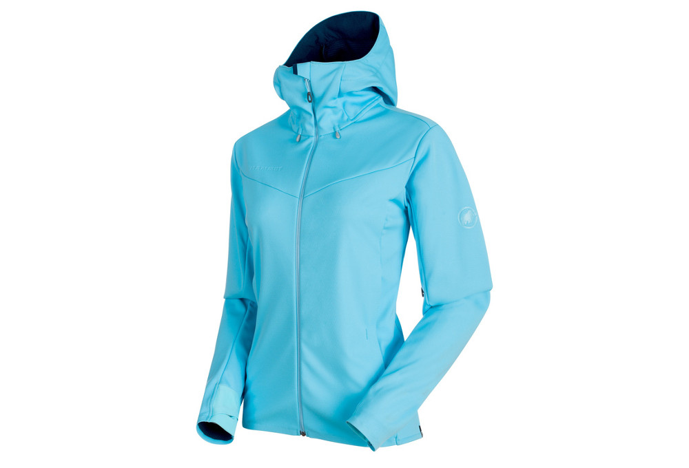 buy popular aa7c6 6c010 Softshell-Jacke mit Kapuze Mammut Ultimate V Hooded Blau Damen