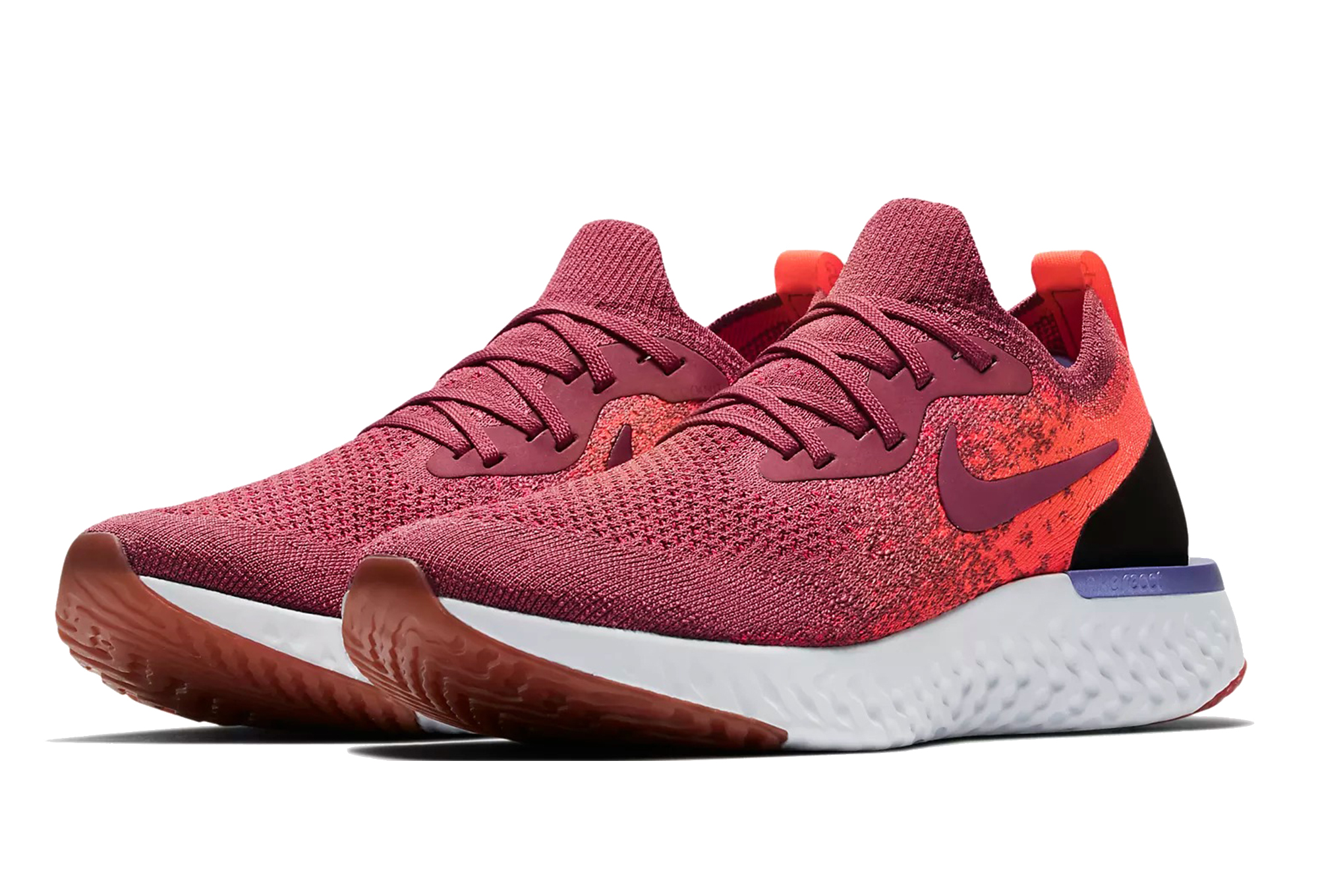 Chaussures de Running Femme Nike Epic React Flyknit Orange / Rose