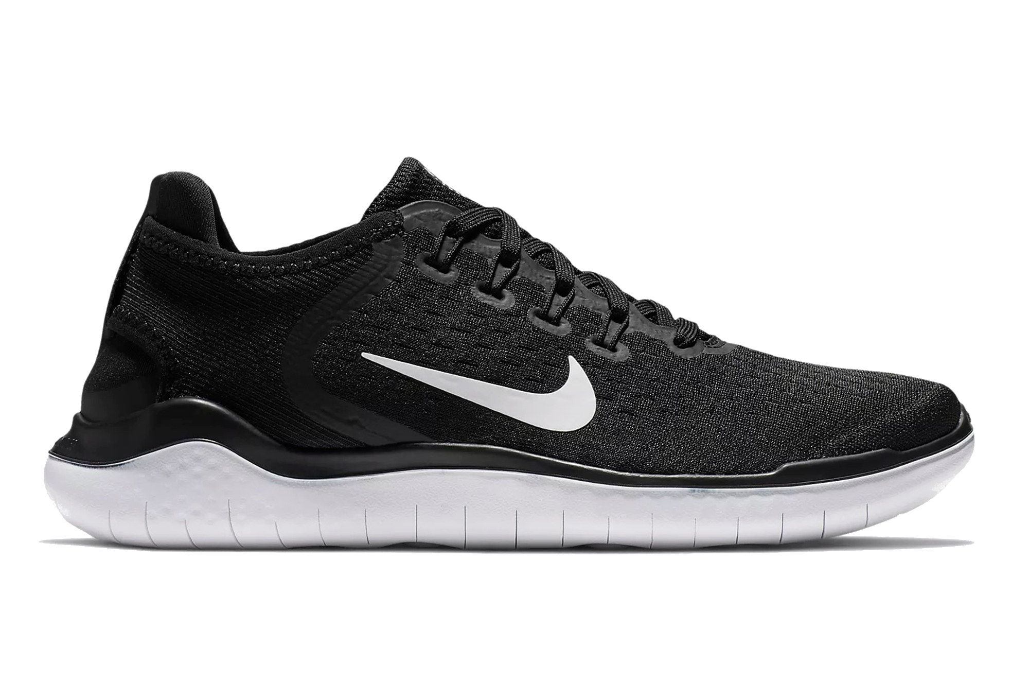 cheaper huge selection of where to buy Nike Shoes Free RN 2018 Black White Women