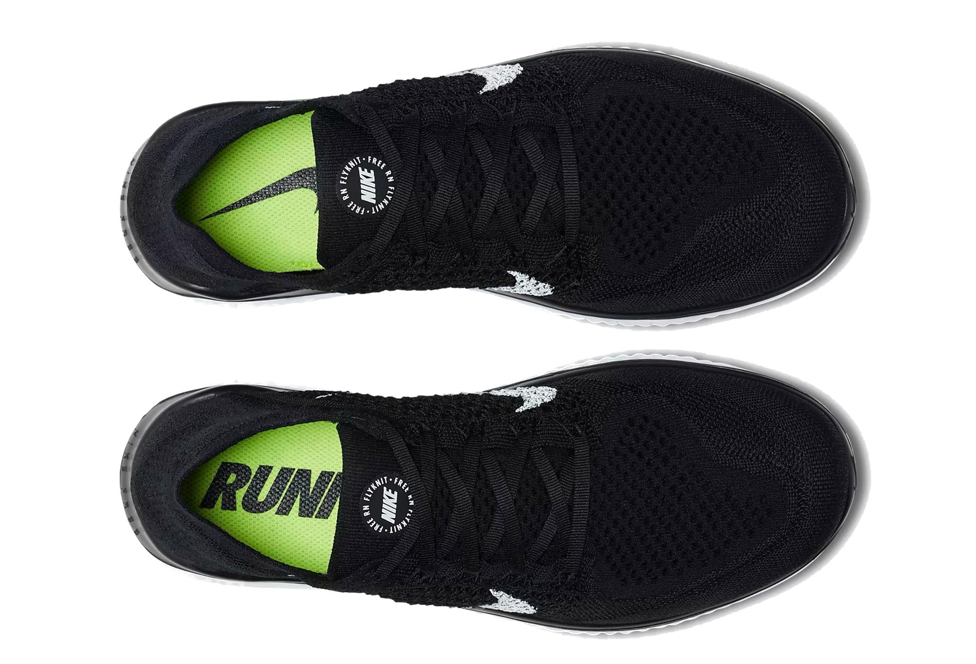 Nike Shoes Free RN Flyknit Black White Women