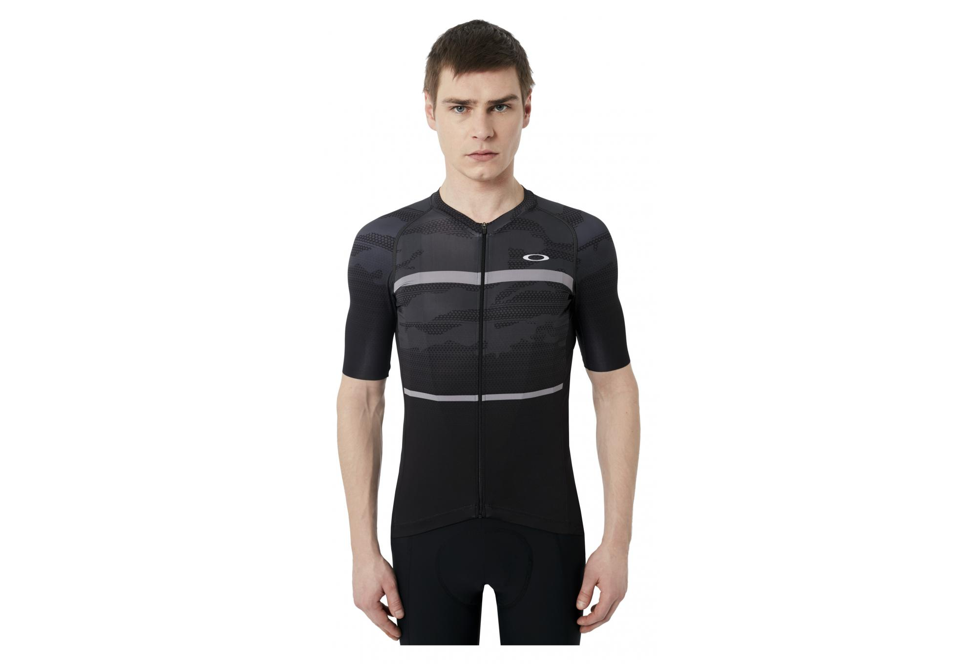 OAKLEY Jawbreaker Road Short Sleeves Jersey Blackout  10e8f804d