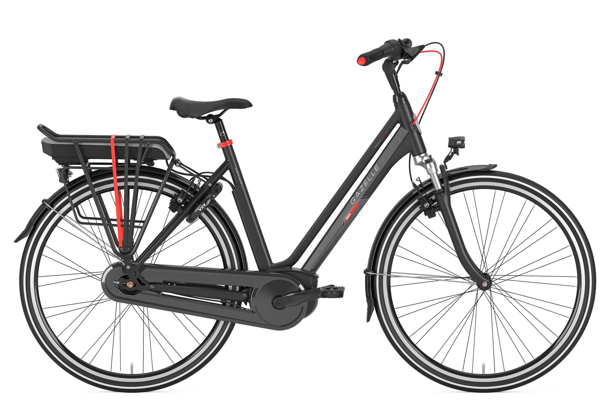 Vélo de Ville Électrique Gazelle Vento C7 HMB Shimano Nexus 7V Noir 2018