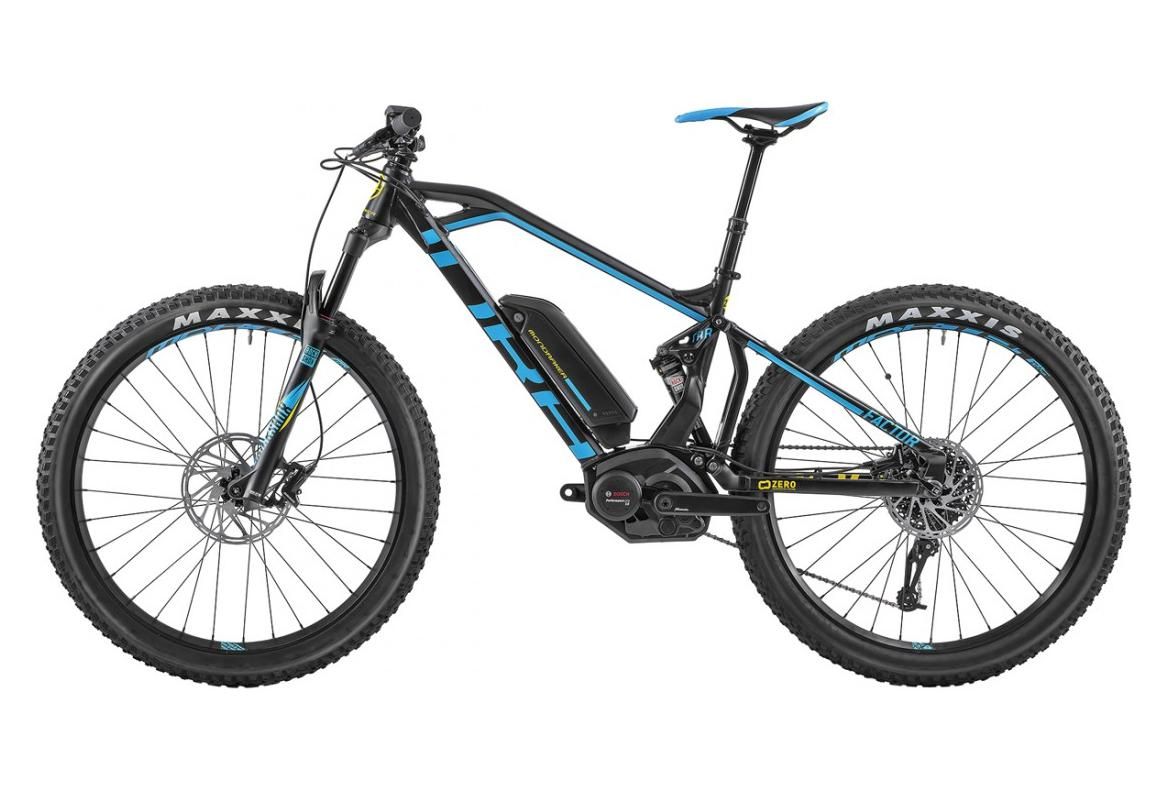 vtt electrique tout suspendu mondraker e factor 27 5 sram gx 10v noir bleu jaune 2018. Black Bedroom Furniture Sets. Home Design Ideas