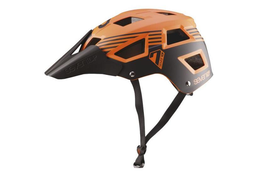 casque vtt seven m5 orange noir. Black Bedroom Furniture Sets. Home Design Ideas