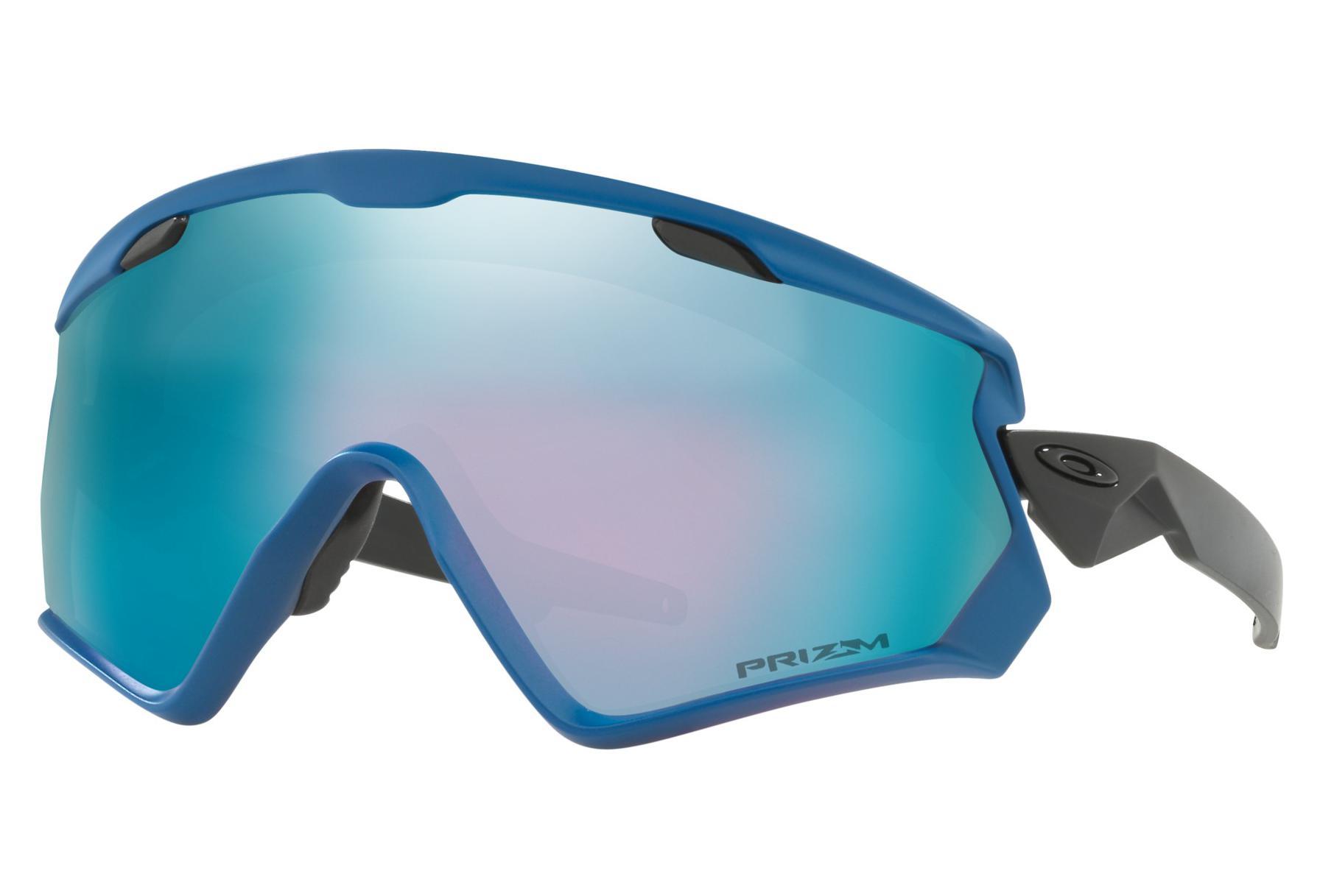 f3b4a86ce44a1e Lunettes Oakley Wind Jacket 2 Bleu Californie Prizm Snow Sapphire Iridium    ref. OO7072-