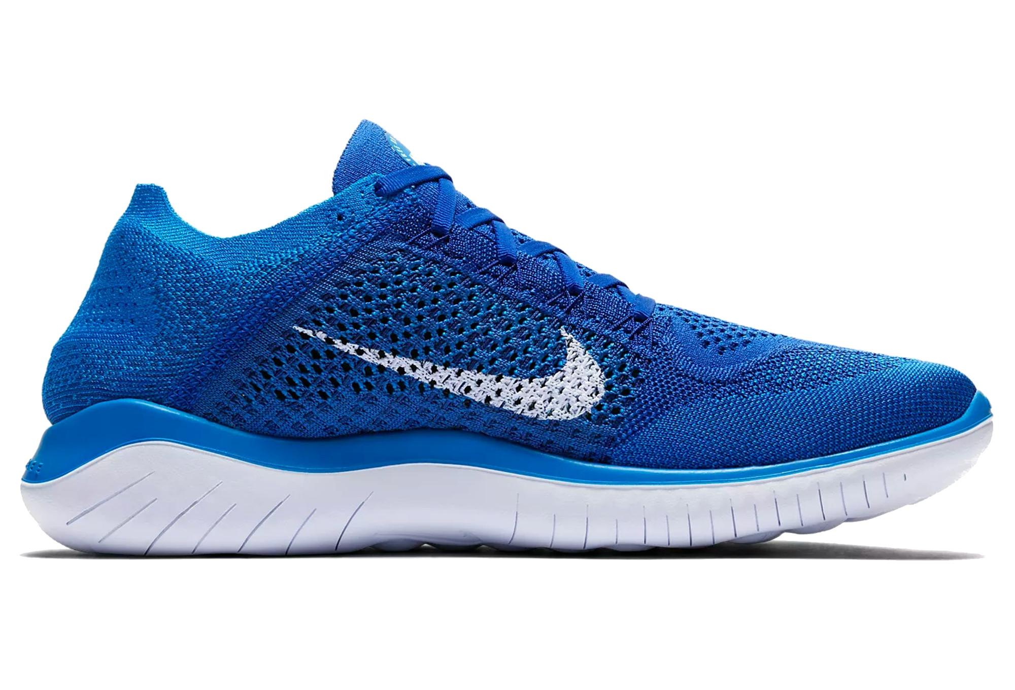 detailed look 5d6c2 31558 Chaussures de Running Nike Free RN Flyknit 2018 Bleu   Blanc