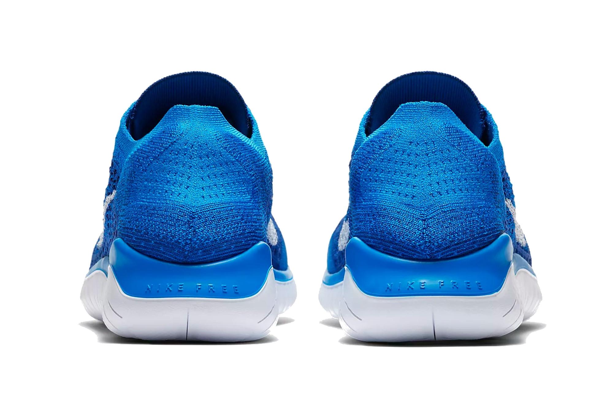 finest selection f5bf1 7b050 Zapatillas Nike Free RN Flyknit 2018 para Hombre Azul / Blanco