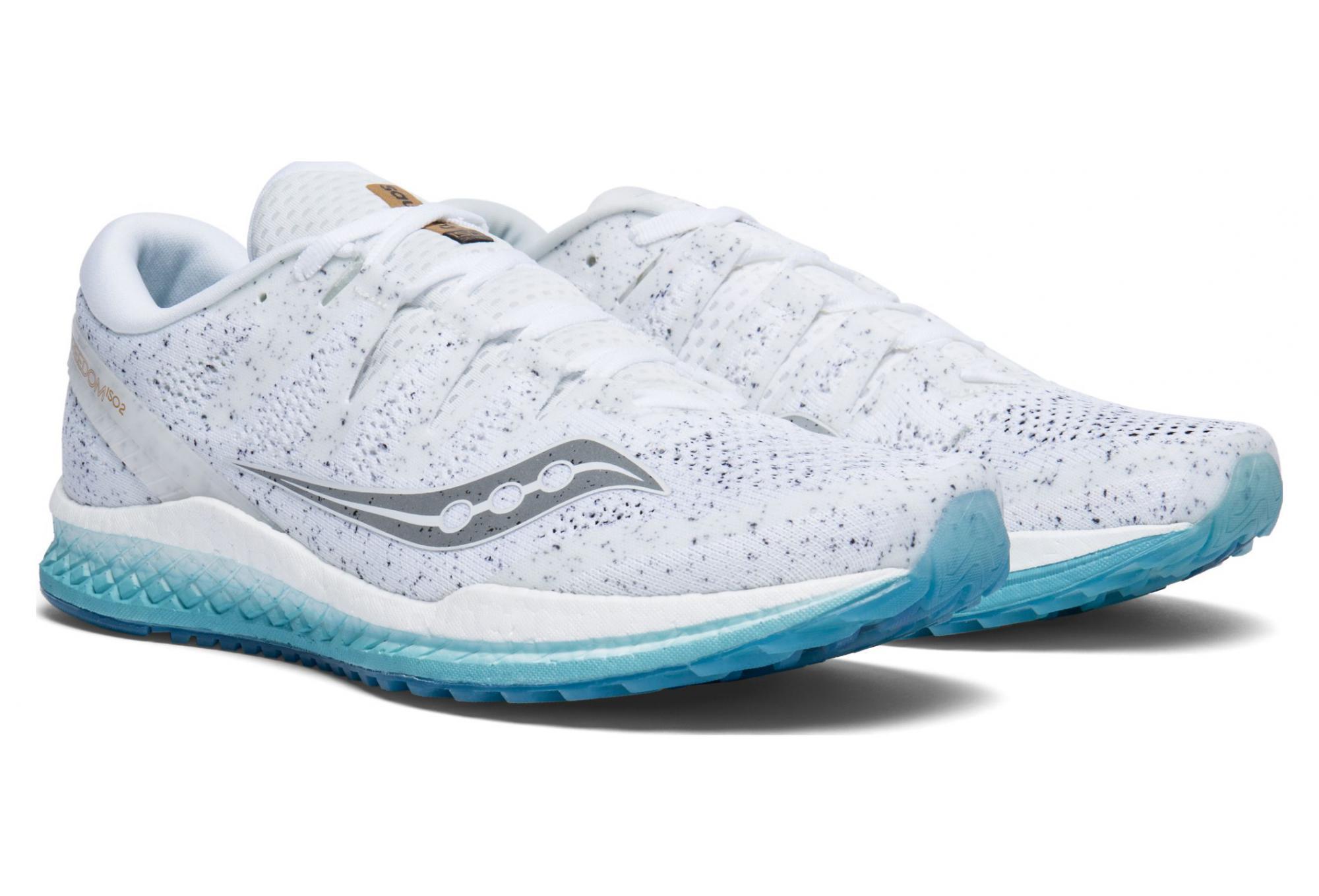 c8e25b63 Saucony Freedom Iso 2 Shoes White Noise | Alltricks.com
