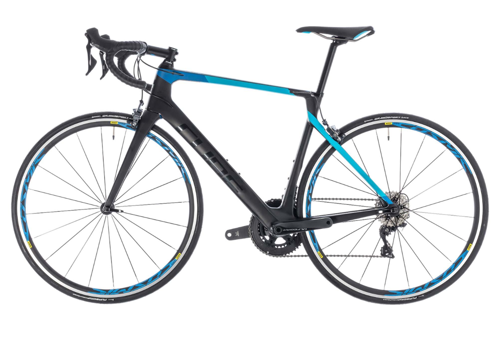 7d59feba37807b Vélo de Route Cube Agree C 62 Pro Shimano Ultegra 11V Noir   Bleu 2018