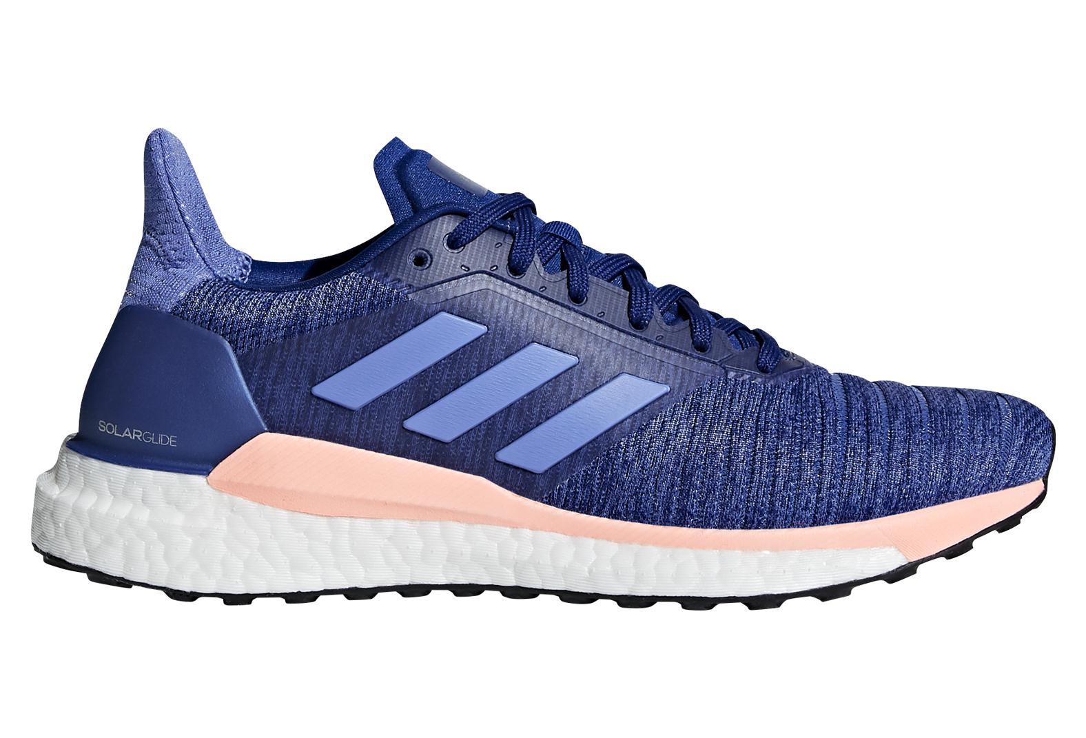 06ec4f39338d adidas running Solar Glide Women s Shoes Blue Pink