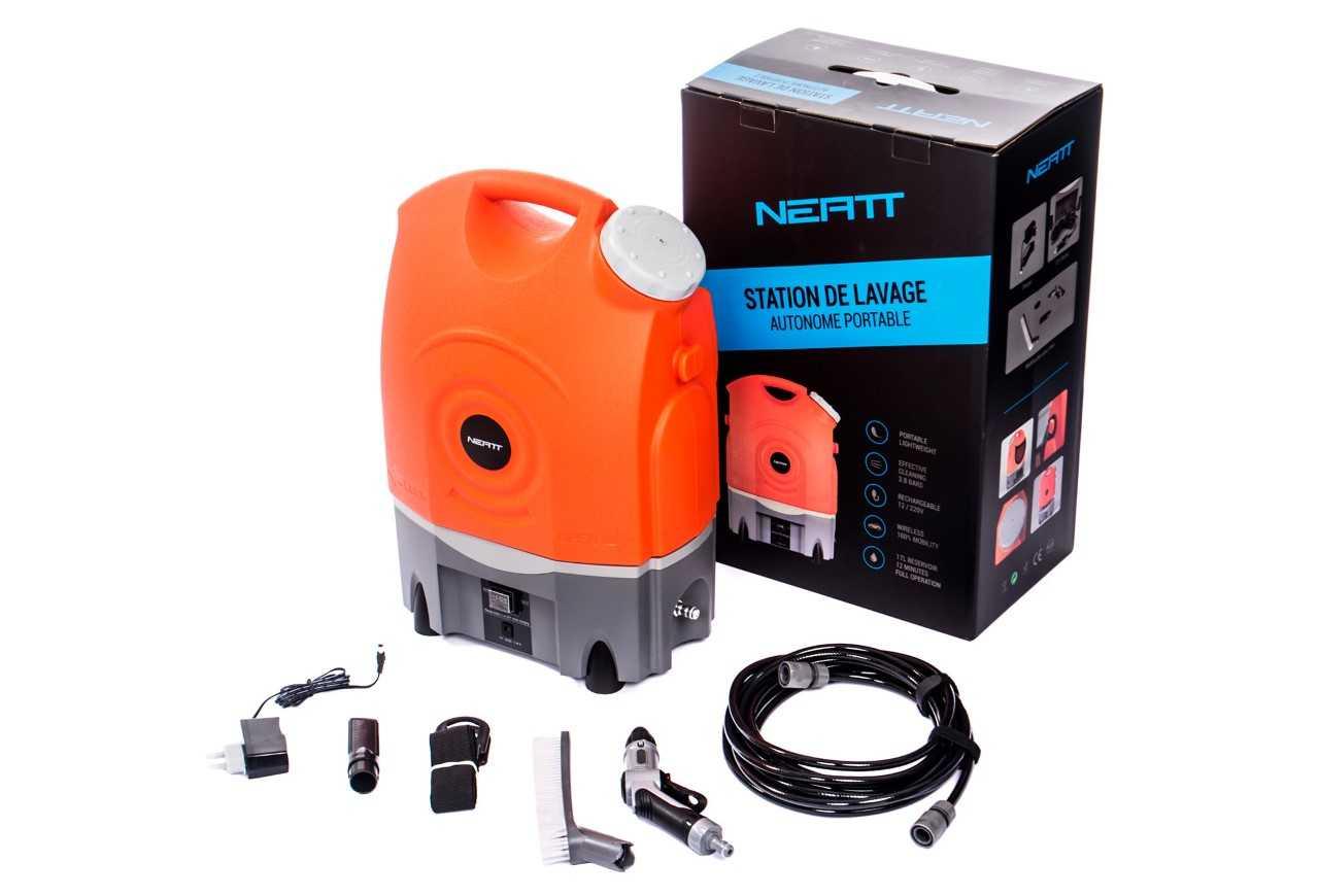 ebff7b6ffbf937 NEATT Station de Lavage / Nettoyeur Haute pression Autonome avec batterie  et réserve de 17L