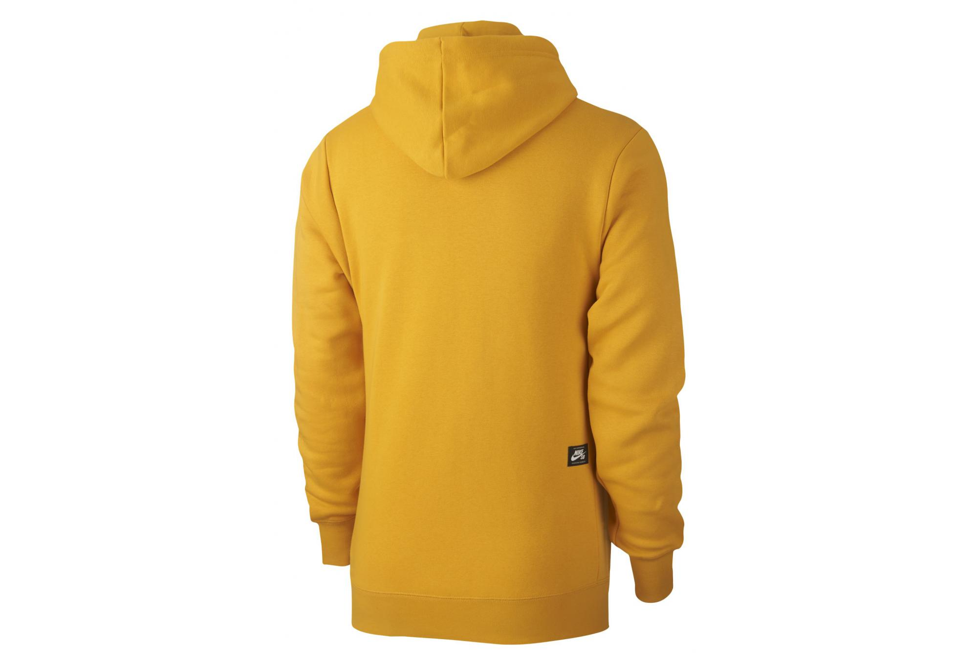 100% high quality good service 100% authentic Nike SB Icon Hoodie Gelb