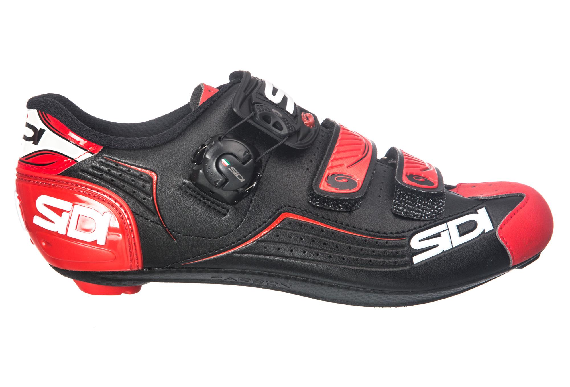 Chaussures Route Sidi Alba Noir Rouge |