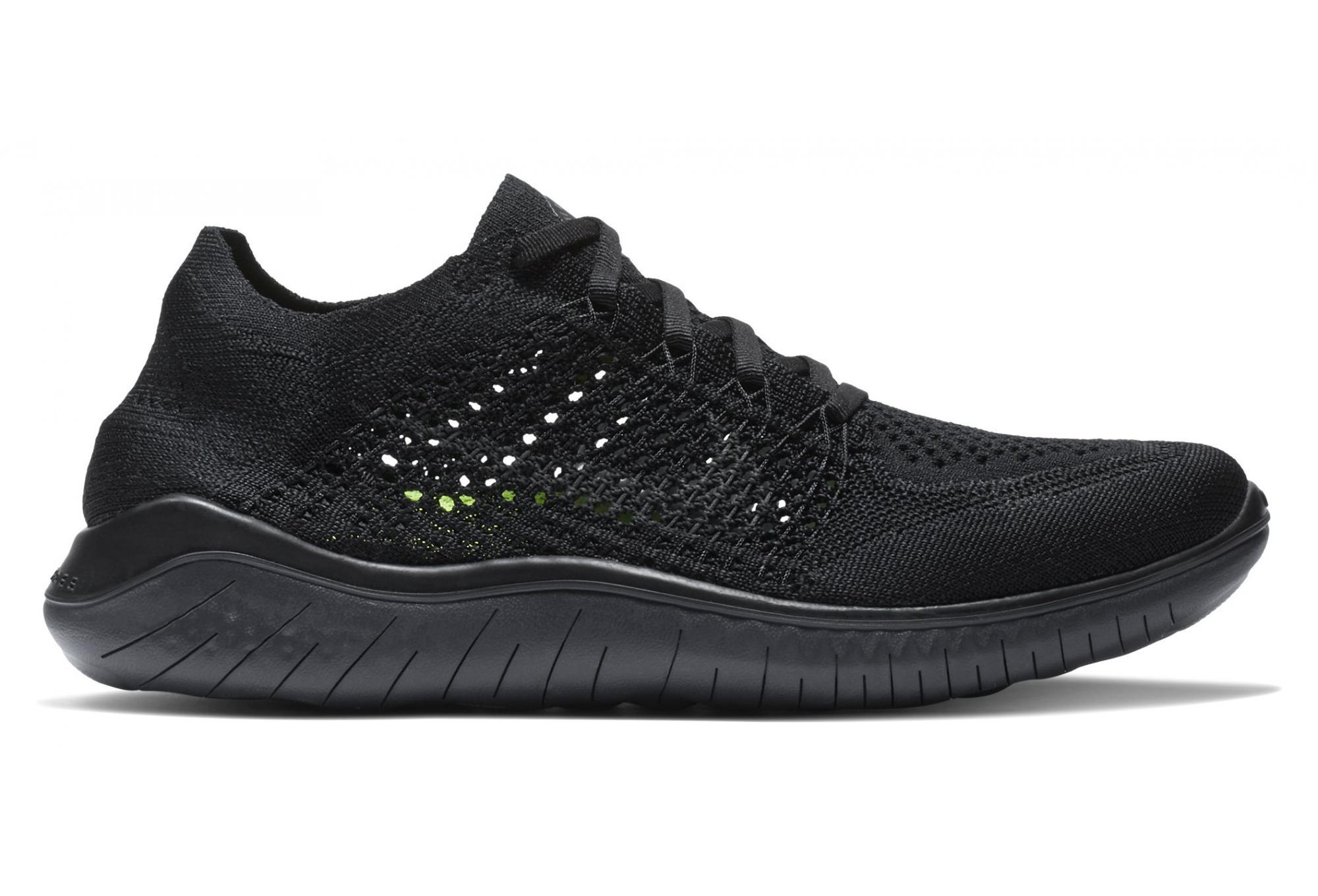 newest c1dcf 7b12d Nike Shoes Free RN Flyknit 2018 Black Women
