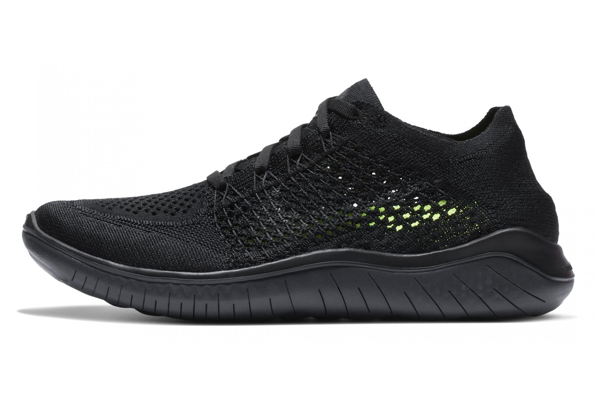 Nike Shoes Free RN Flyknit 2018 Negro Mujeres