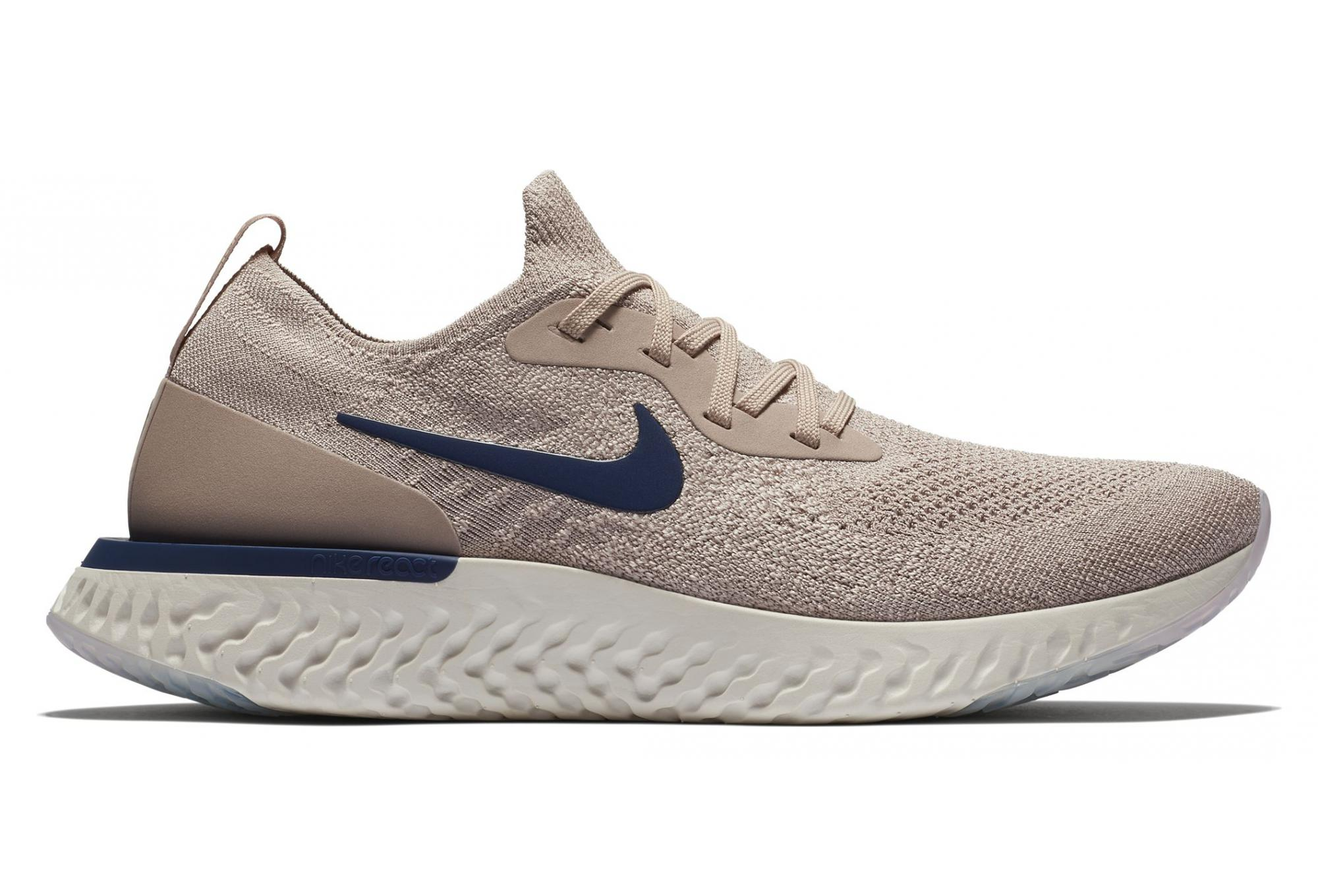 Blue React Flyknit Epic Men Shoes Nike Beige thrsQd