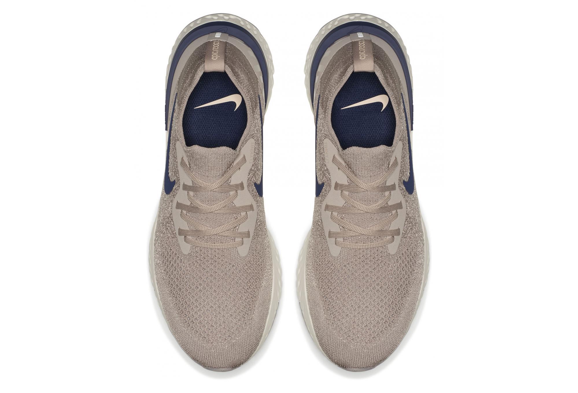Nike Schuhe Epic React Flyknit Beige Blau Männer