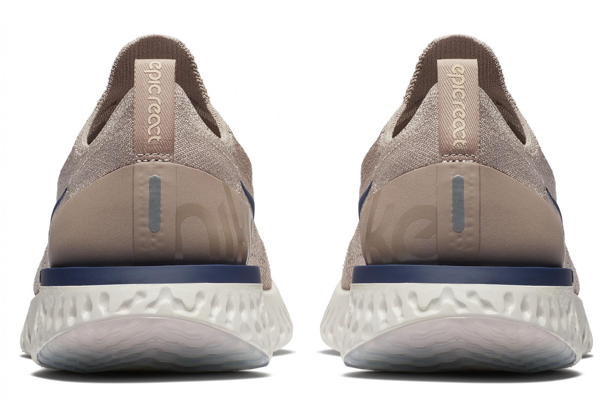uk availability 53d6a adc9d Chaussures de Running Nike Epic React Flyknit Beige   Bleu