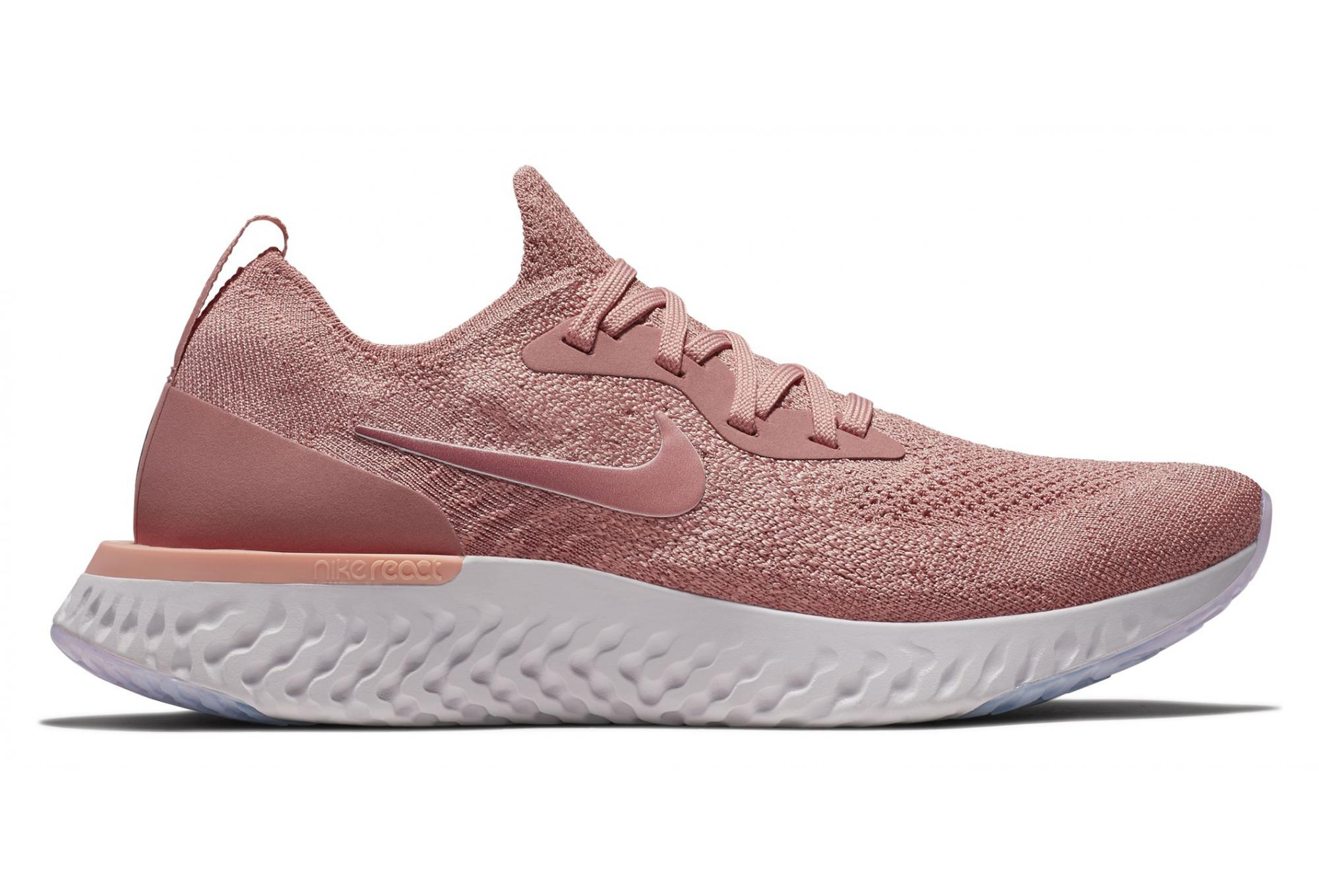 new product 27cc2 8a951 Nike Shoes Epic React Flyknit Pink Women  Alltricks.com