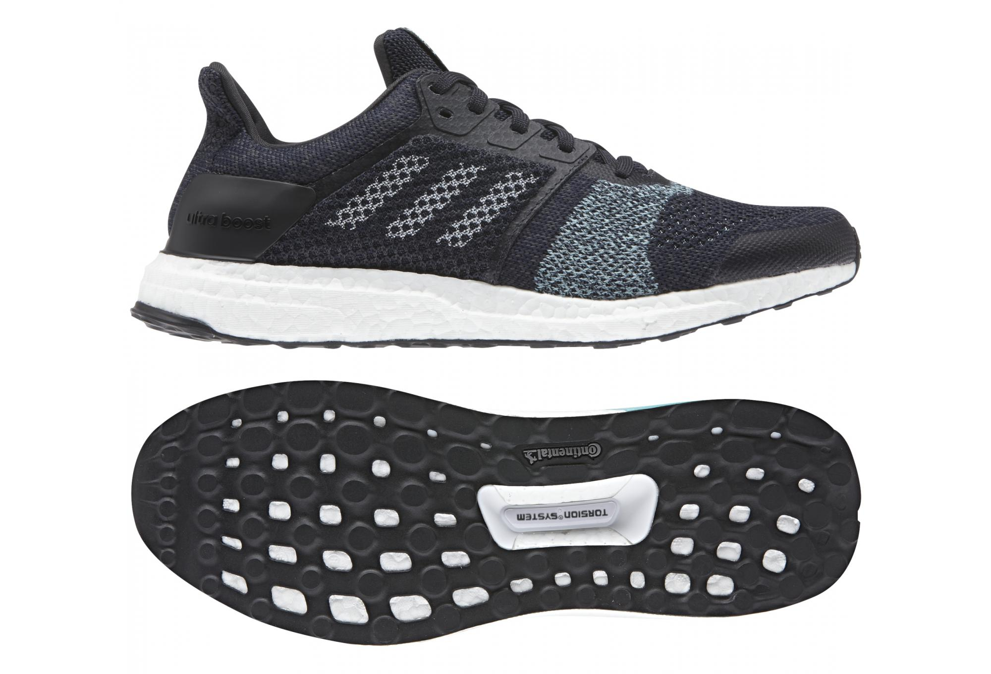 3dc583481fb056 adidas running Ultra Boost ST Parley Black White