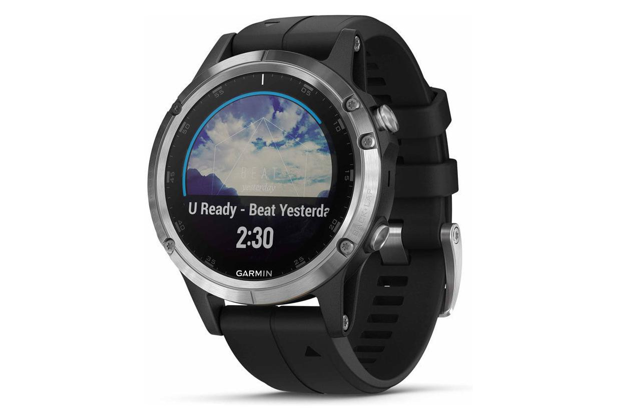 garmin fenix 5 plus gps uhr silber. Black Bedroom Furniture Sets. Home Design Ideas