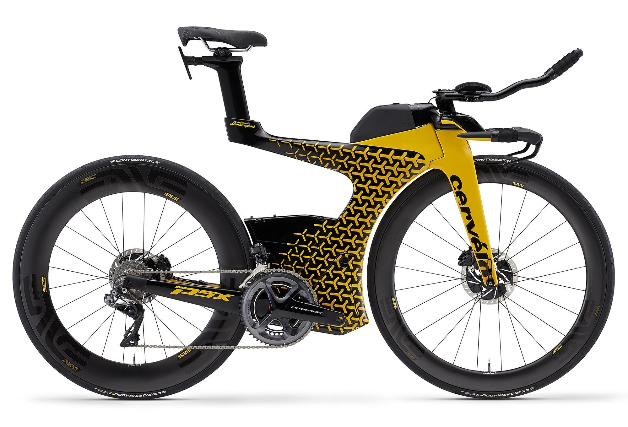 Cervelo P5x Limited Edition Lamborghini Triathlon Bike Shimano Dura