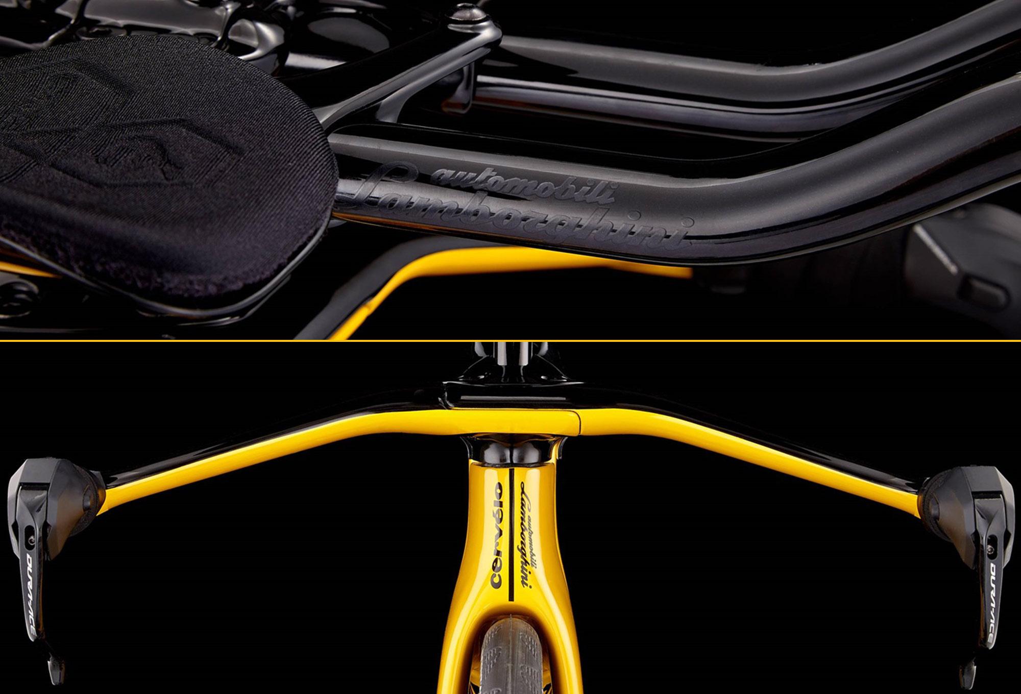Cervélo P5X Limited Edition Lamborghini Triathlon Bike Shimano Dura Ace Di2  9180 11S 2018 Yellow Black