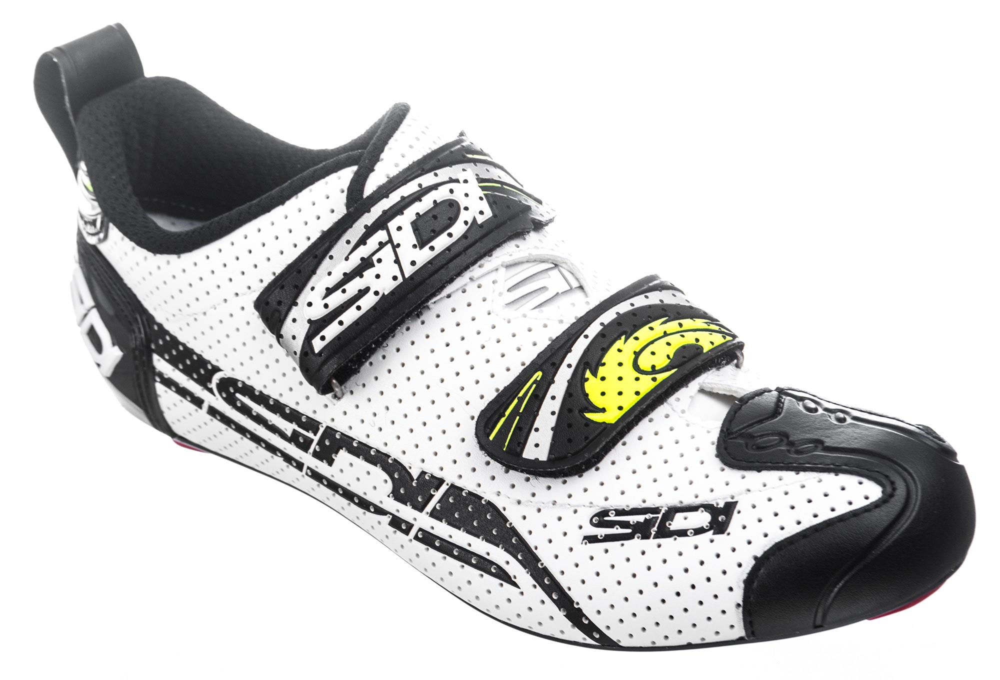 on sale 724d5 01e6b SIDI Paire de Chaussures Triathlon T4 AIR Blanc Noir