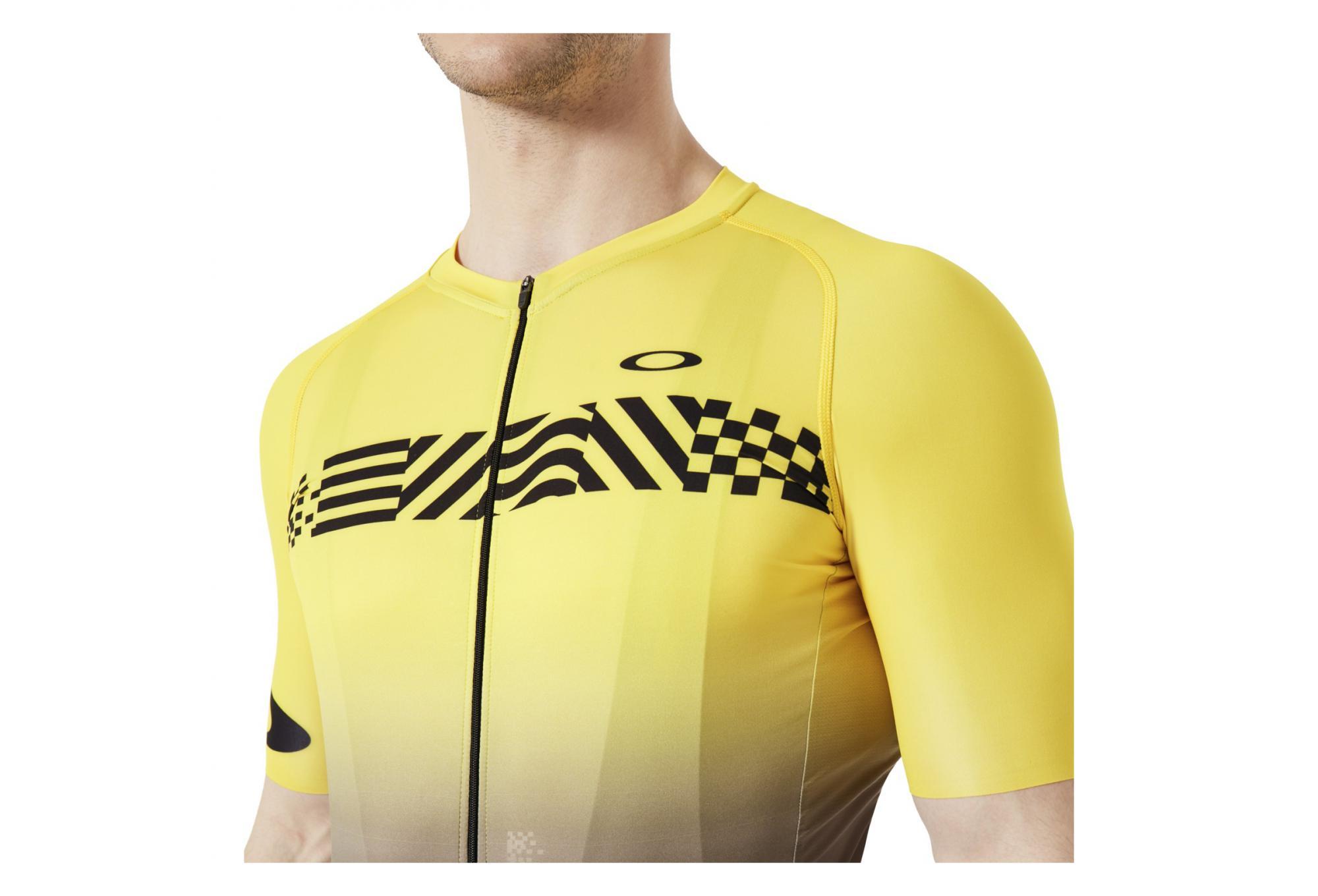 maillot de route oakley colorblock tour de france noir jaune. Black Bedroom Furniture Sets. Home Design Ideas